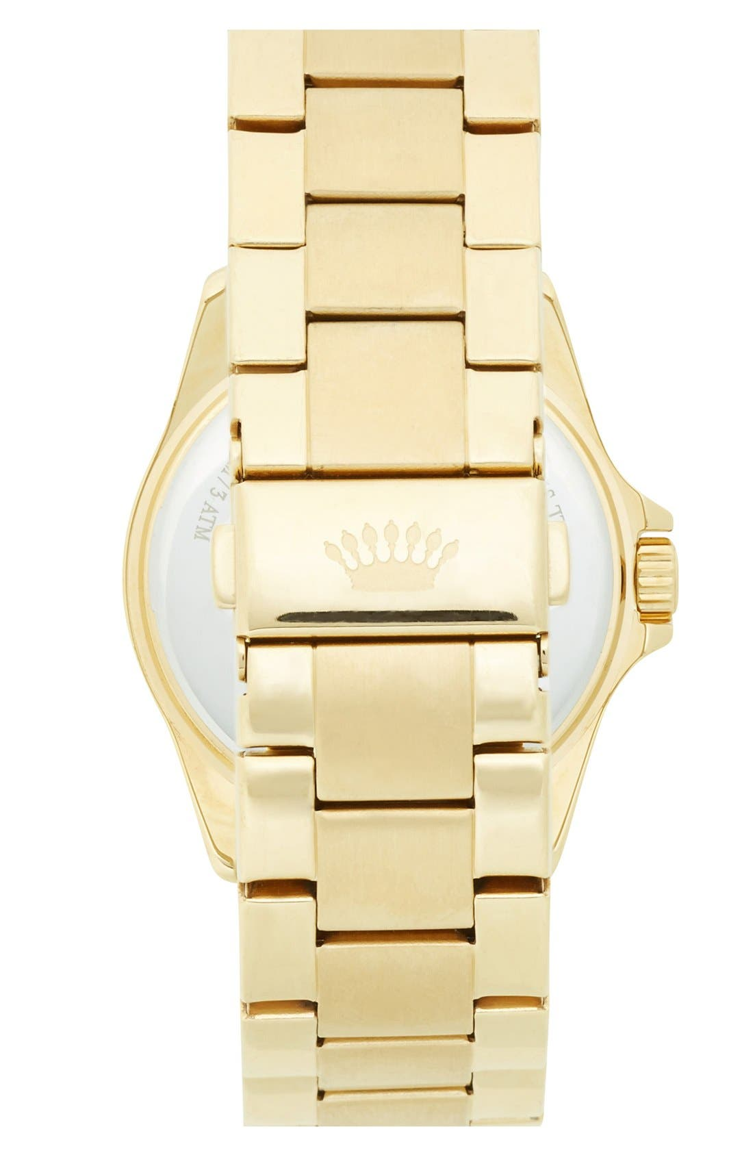 Alternate Image 2  - Juicy Couture 'Stella' Crystal Index Round Bracelet Watch, 36mm