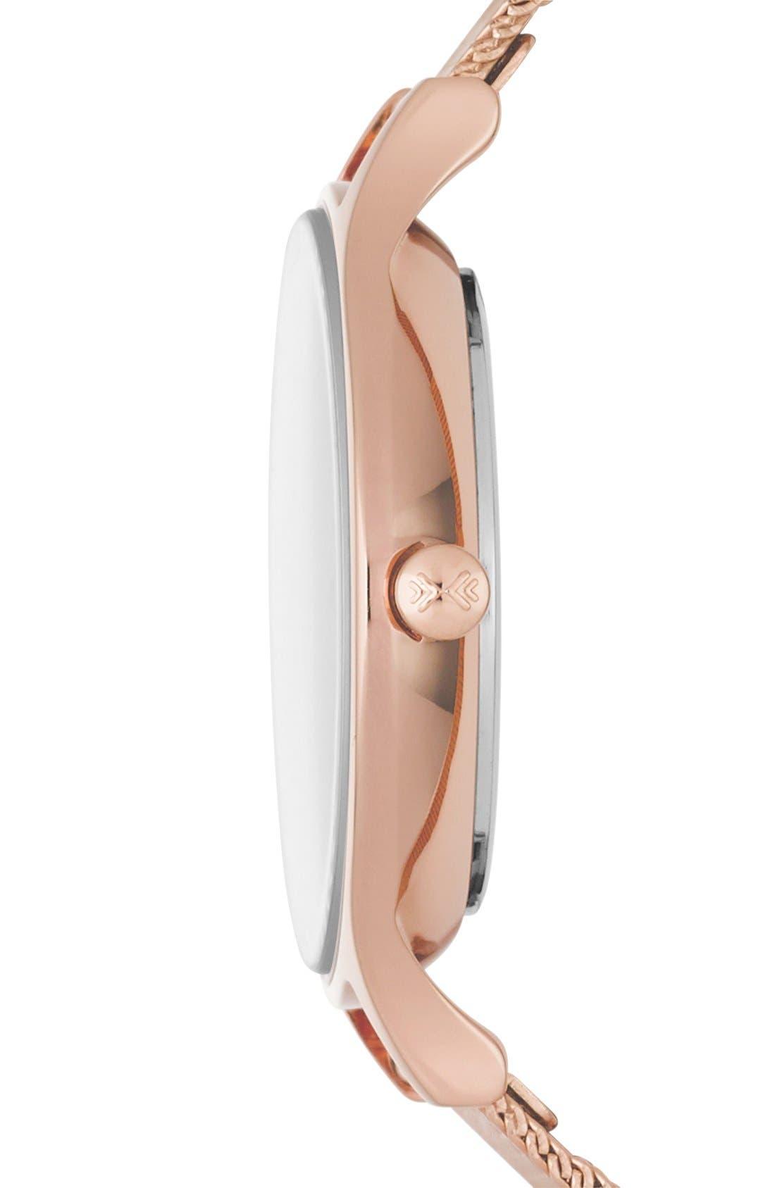 Alternate Image 2  - Skagen 'Anita' Crystal Index Mesh Strap Watch, 30mm