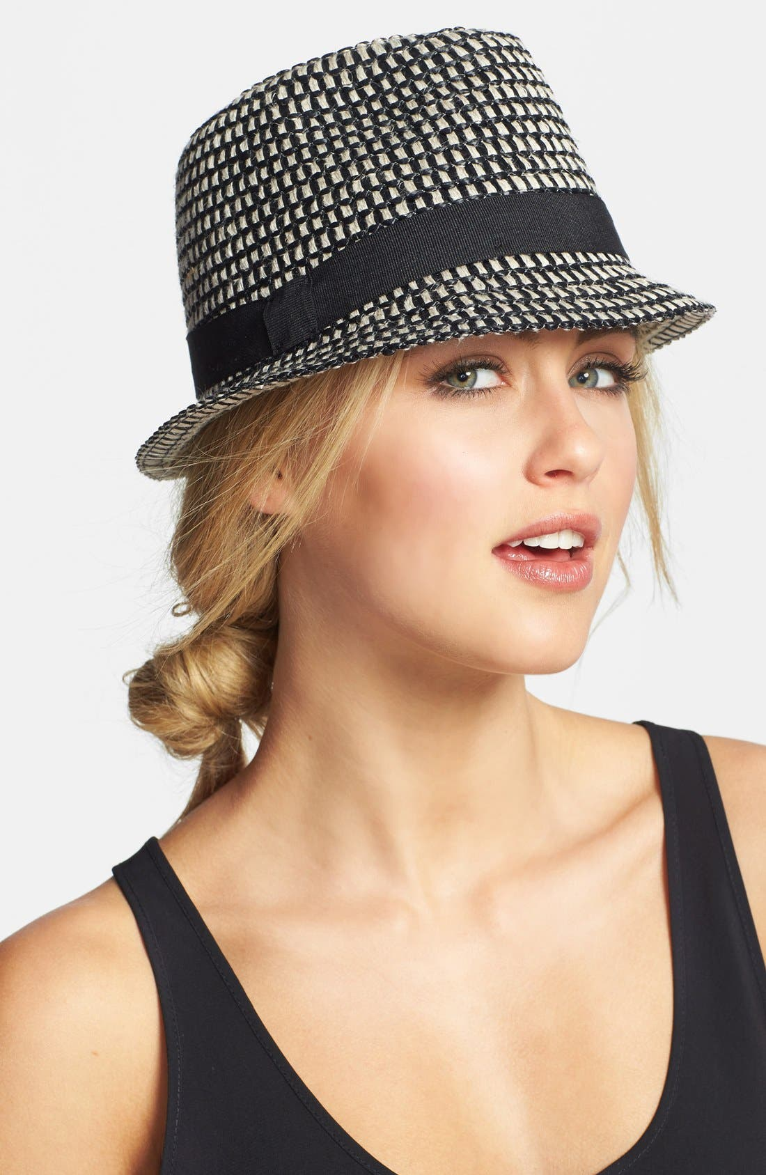 Alternate Image 1 Selected - Nordstrom Two-Tone Fedora