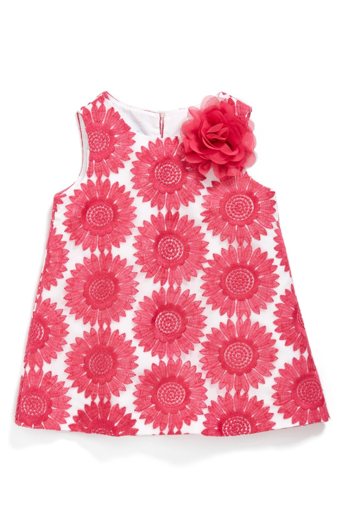 Main Image - Pippa & Julie Floral Embroidered Sleeveless Dress (Baby Girls)