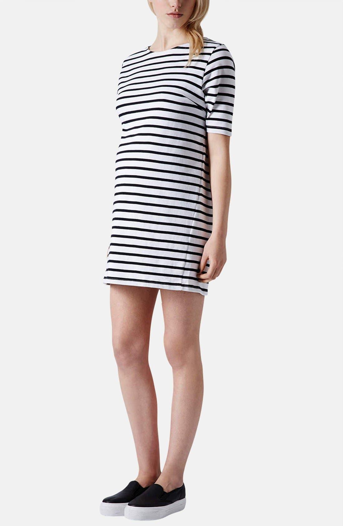Alternate Image 5  - Topshop Stripe Cotton Maternity Tunic Dress