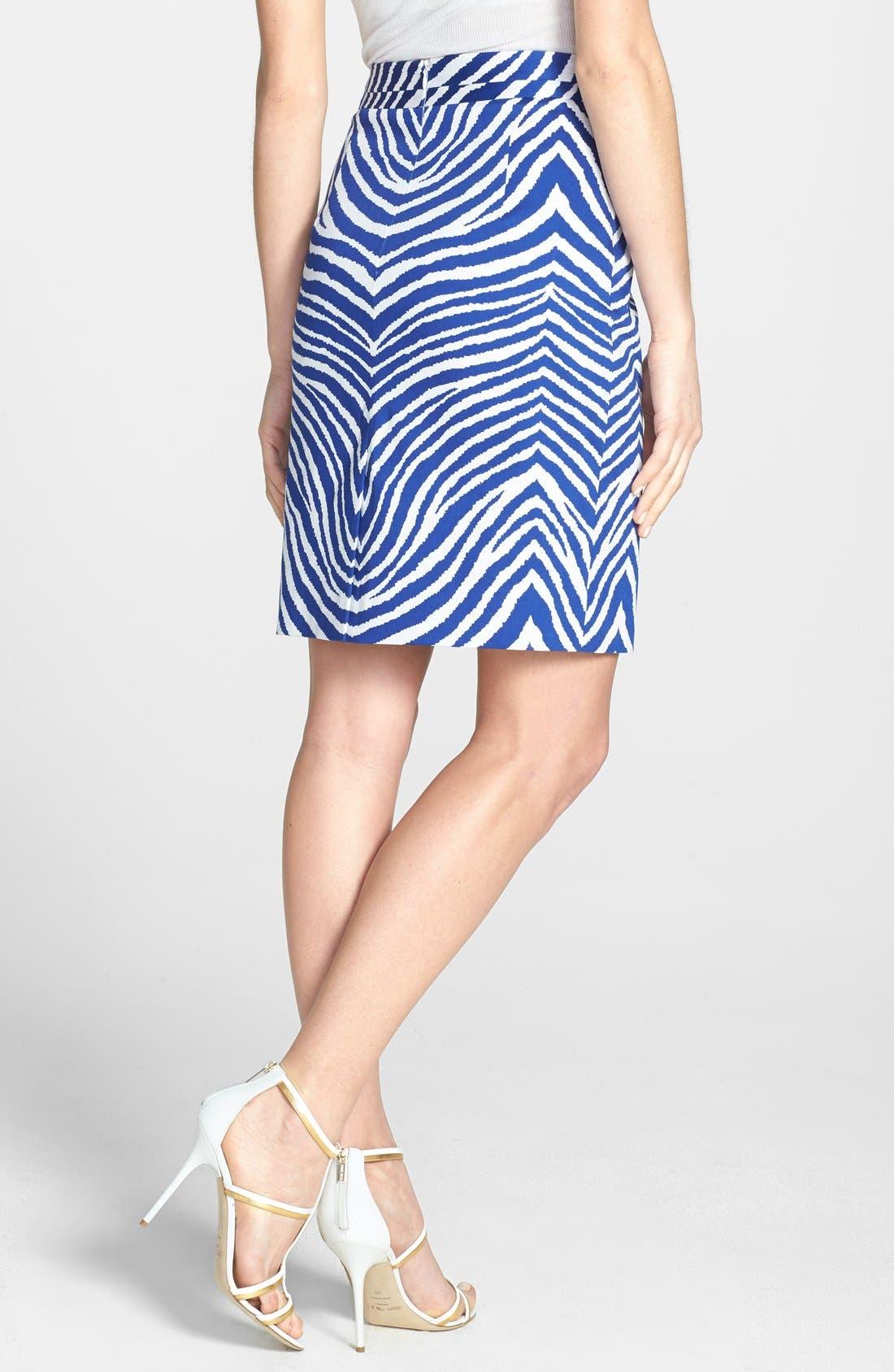 Alternate Image 2  - Milly Print Pencil Skirt