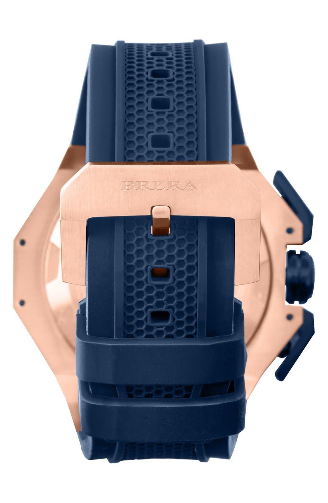 Alternate Image 2  - Brera 'Gran Turismo' Chronograph Silicone Strap Watch, 54mm