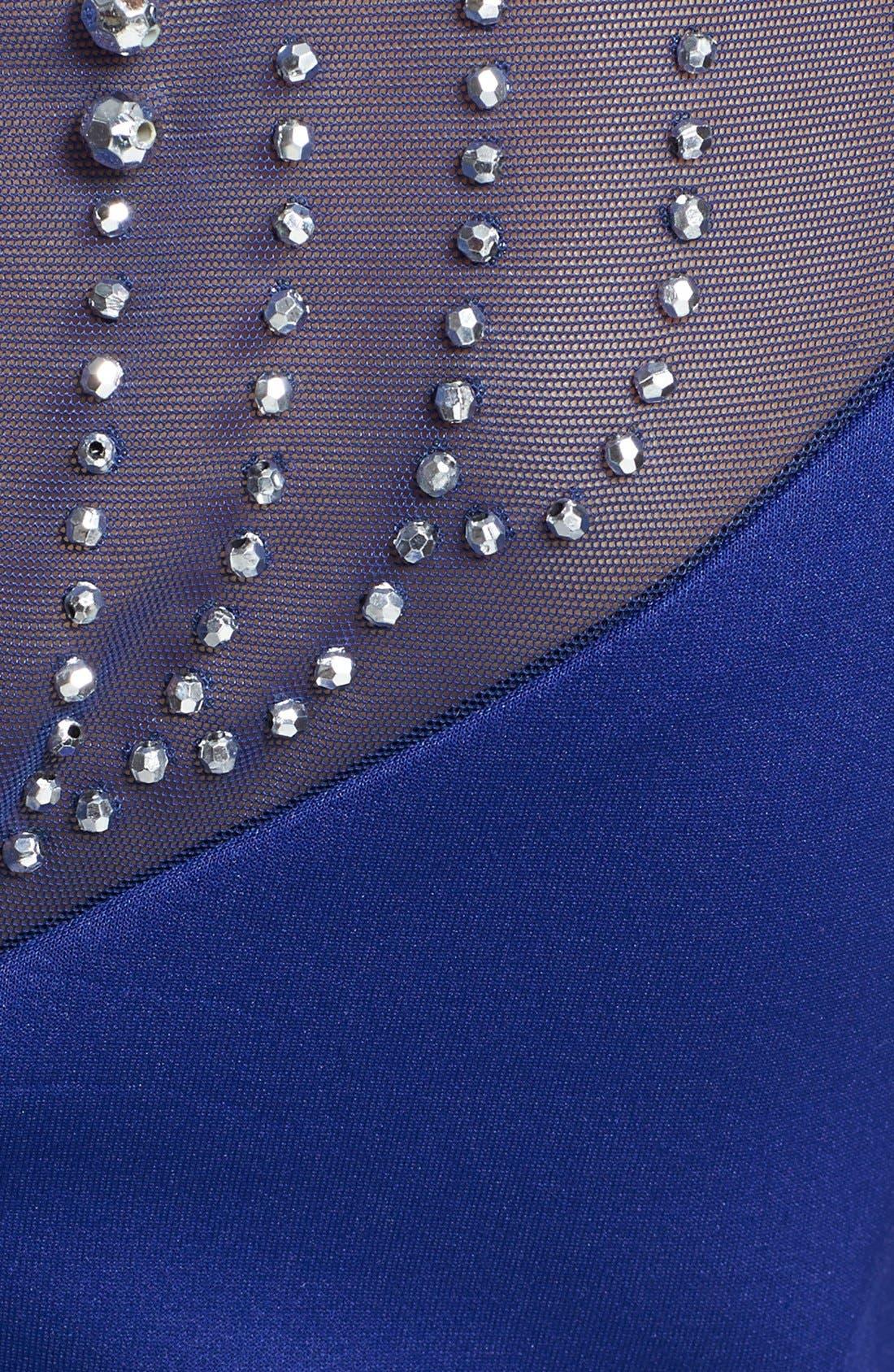Alternate Image 4  - Alexia Admor Embellished Yoke Ponte Sheath Dress