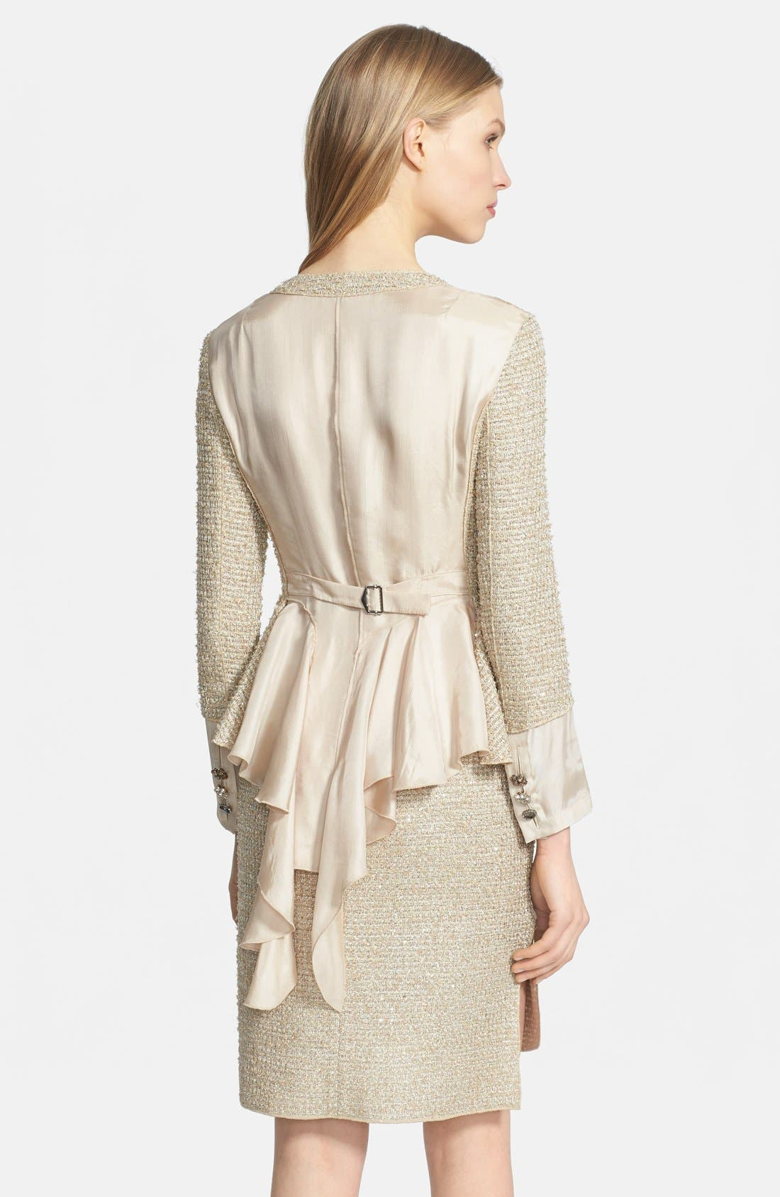 Alternate Image 2  - Nina Ricci Contrast Back Tweed Jacket