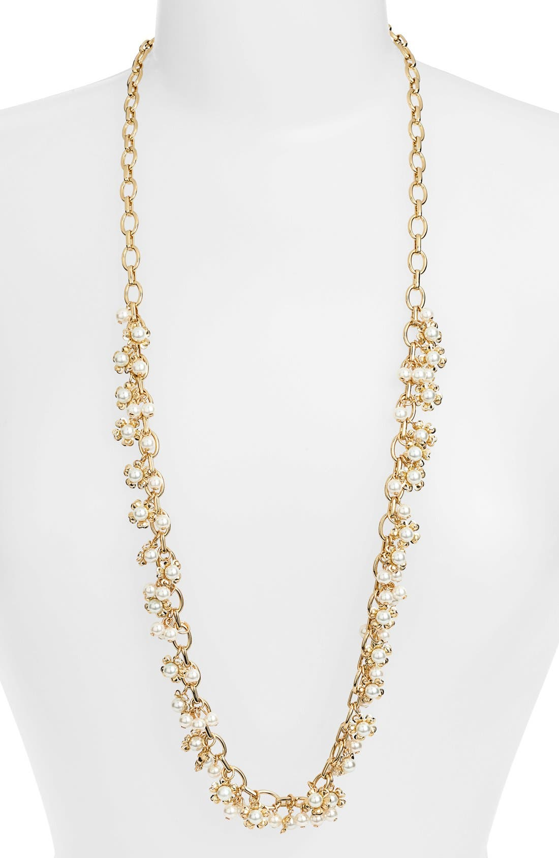 Main Image - Tory Burch 'Katie' Floral Cluster Long Necklace