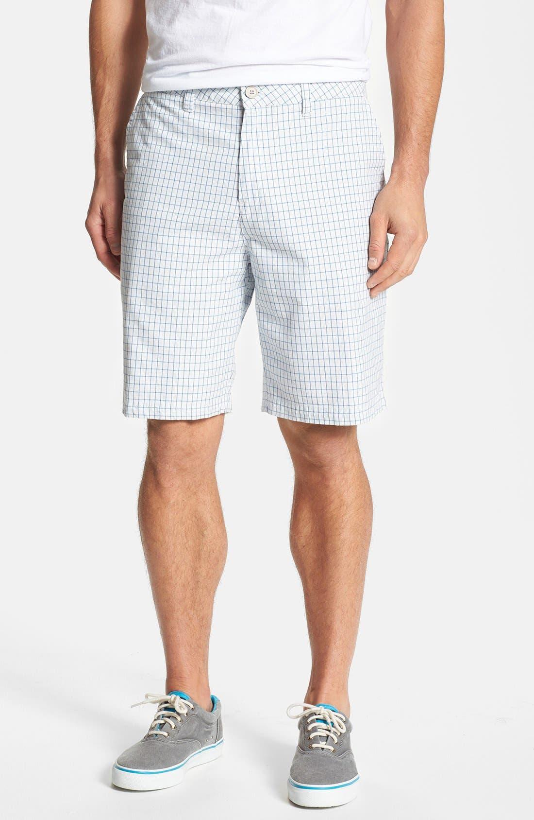 Main Image - Quiksilver 'Hampton' Plaid Cotton Shorts