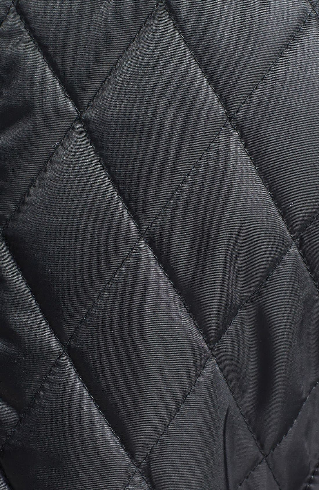 Alternate Image 3  - Vince Camuto Faux Leather Elbow Detail Quilted Jacket