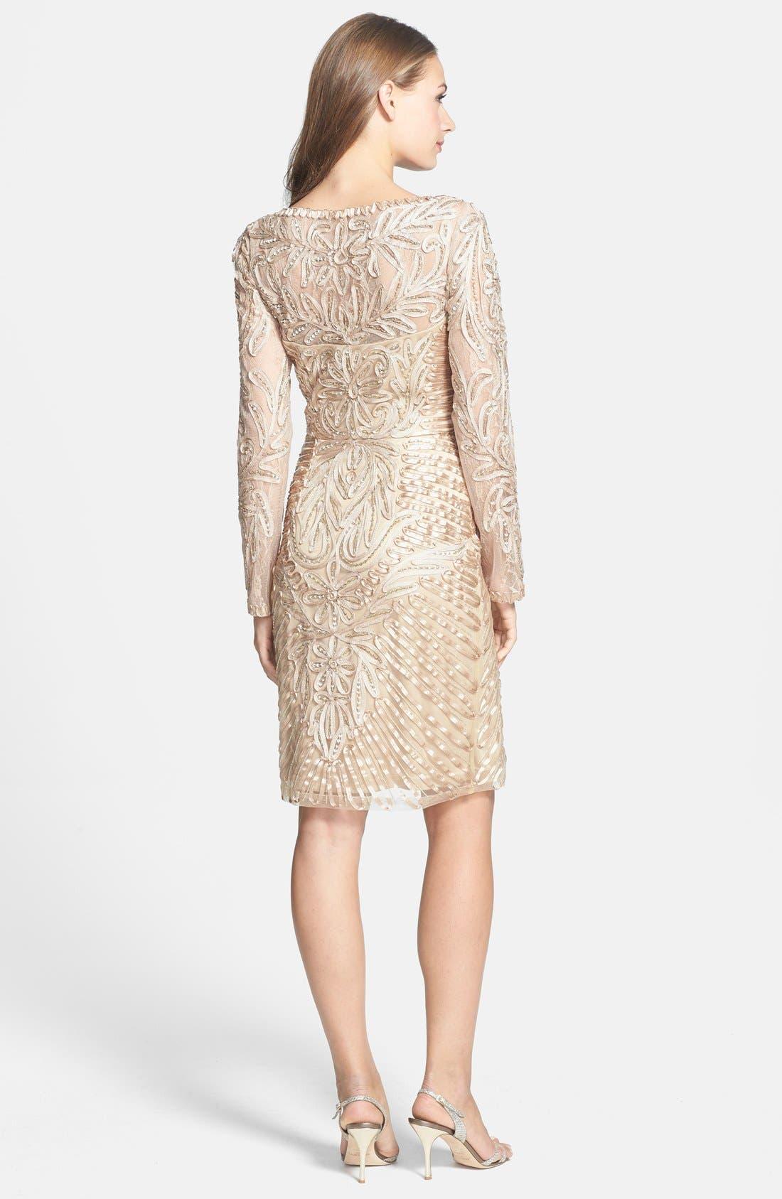 Alternate Image 2  - Sue Wong Embellished Long Sleeve Sheath Dress