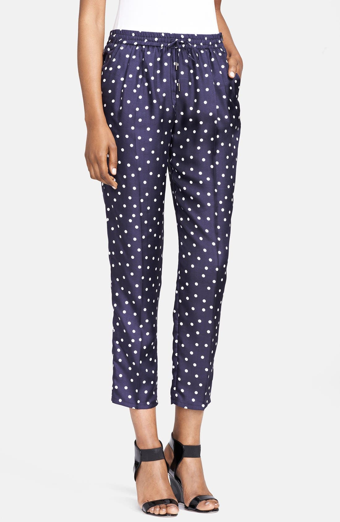 Alternate Image 1 Selected - Max Mara 'Aligi' Polka Dot Silk Pants