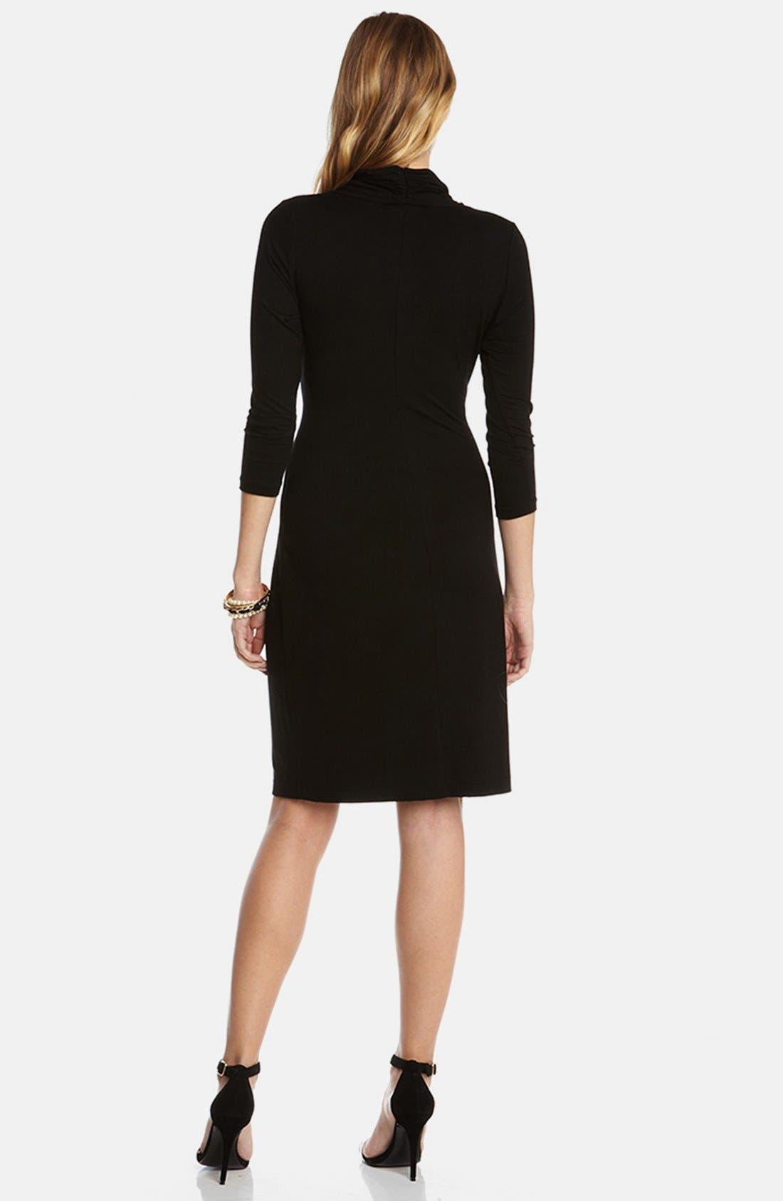 Alternate Image 2  - Karen Kane Cascade Faux Wrap Dress (Regular & Petite)
