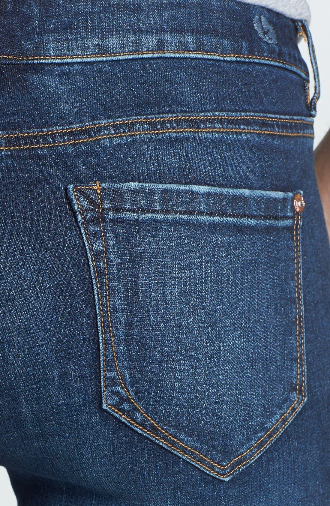 Alternate Image 3  - kensie Classic Capri Jeans (Eternal Highway)