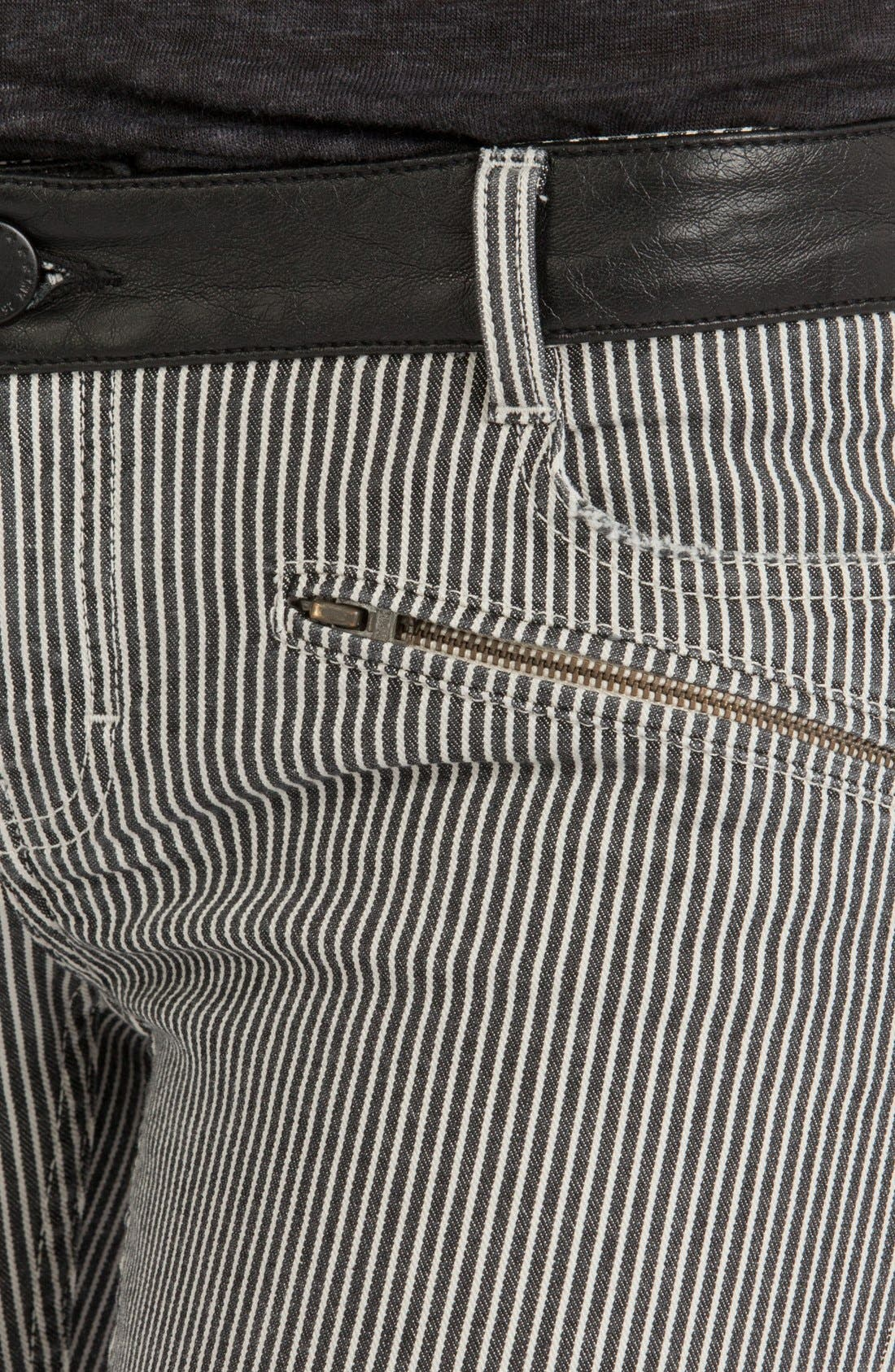 Alternate Image 3  - maje 'Aki' Stripe Stretch Skinny Jeans