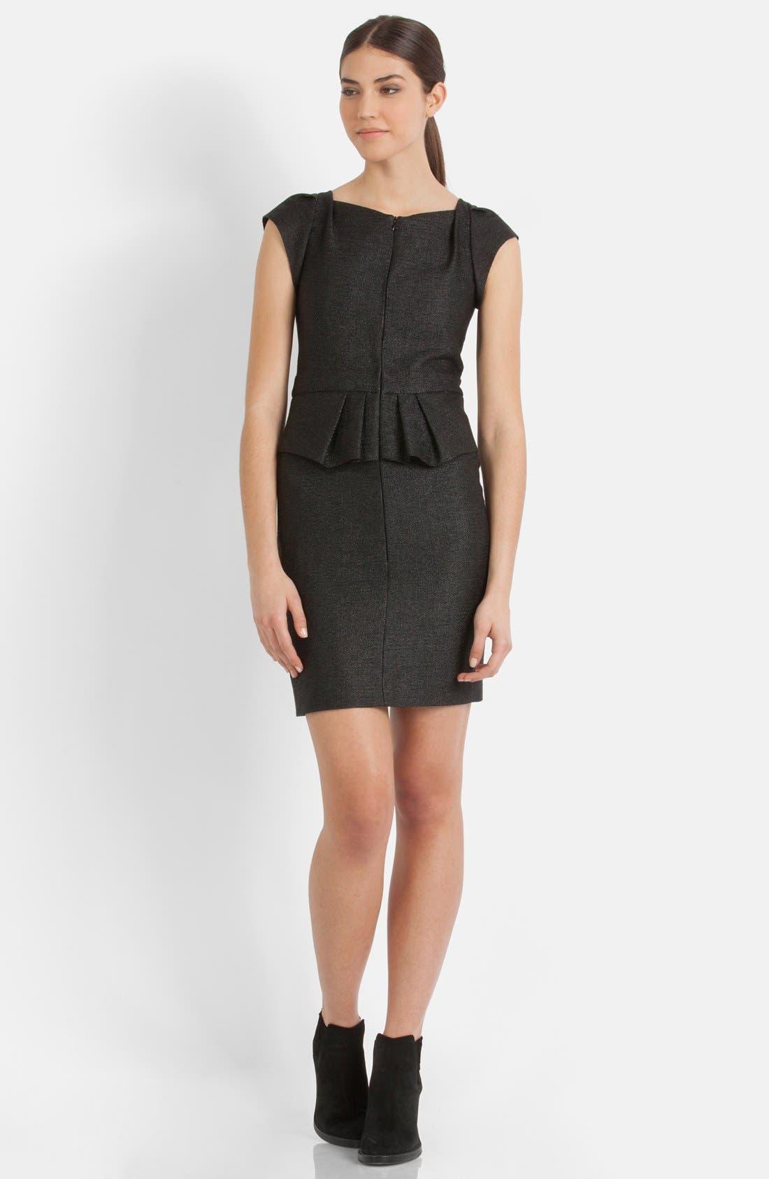 Main Image - maje 'Fashionis' Peplum Woven Sheath Dress
