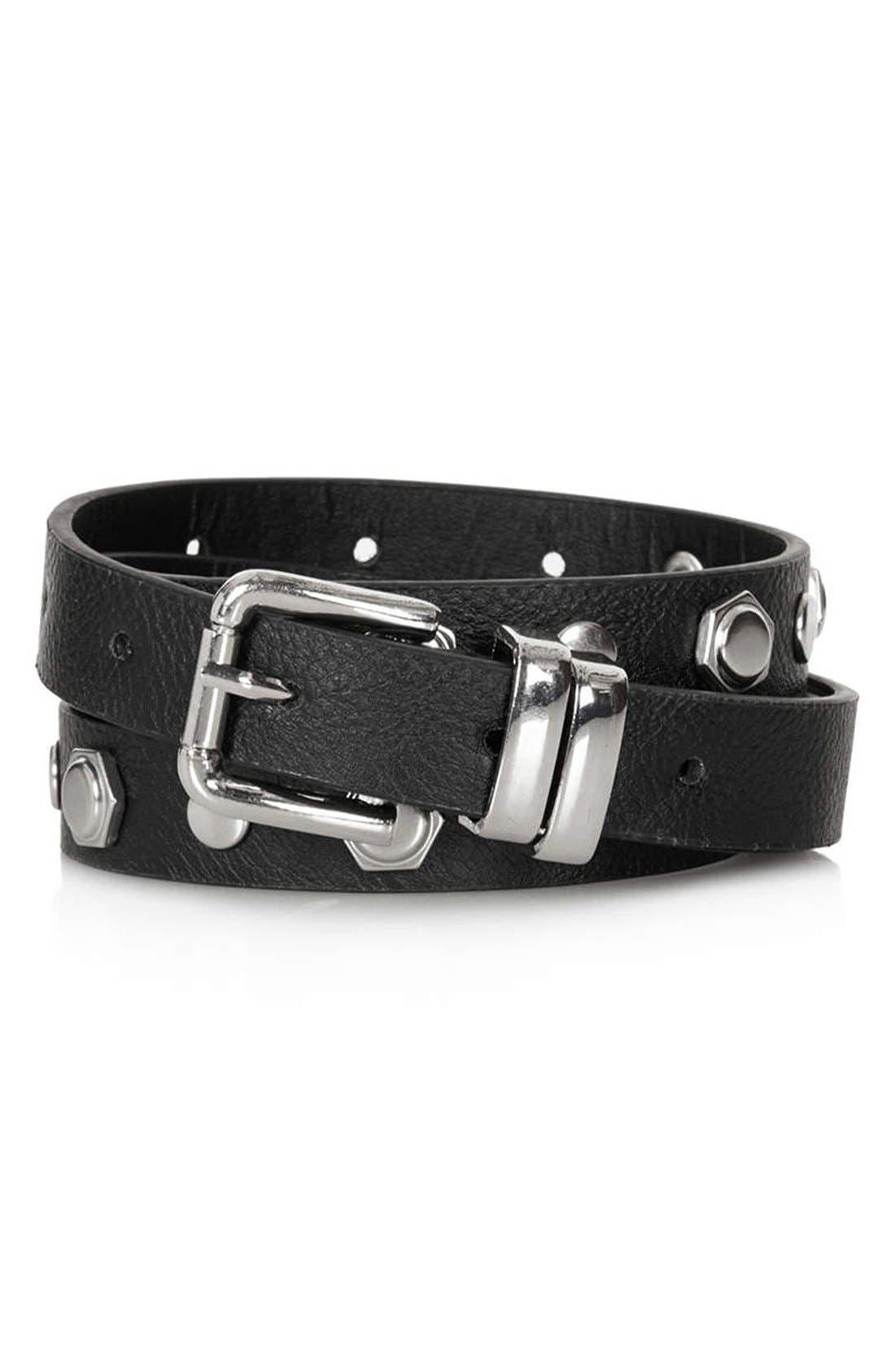 Alternate Image 1 Selected - Topshop Skinny Stud Belt