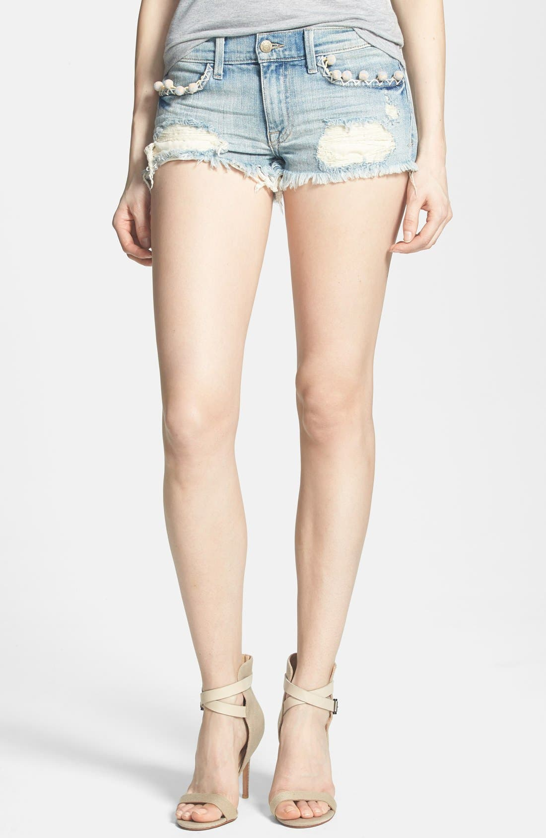 Main Image - Wildfox 'Lara' Mid Rise Denim Cutoff Shorts (Taboo)