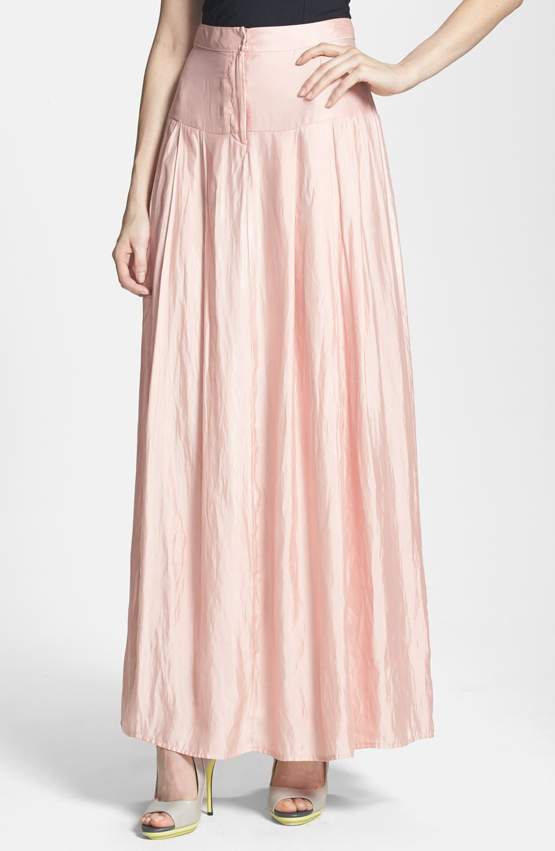 Alternate Image 1 Selected - June & Hudson Woven Maxi Skirt