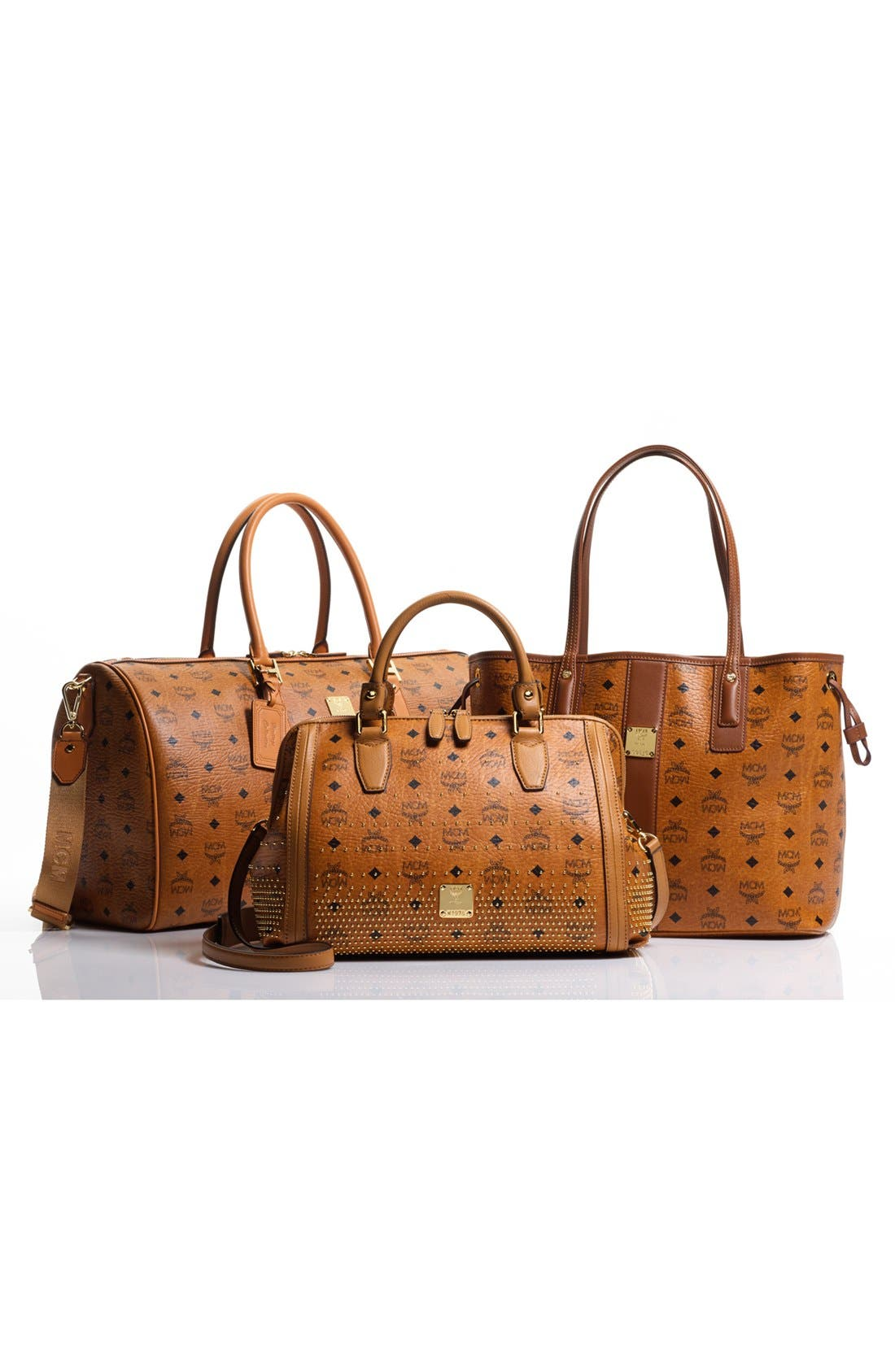 Alternate Image 5  - MCM 'Large Heritage' Coated Canvas Weekend Duffel Bag