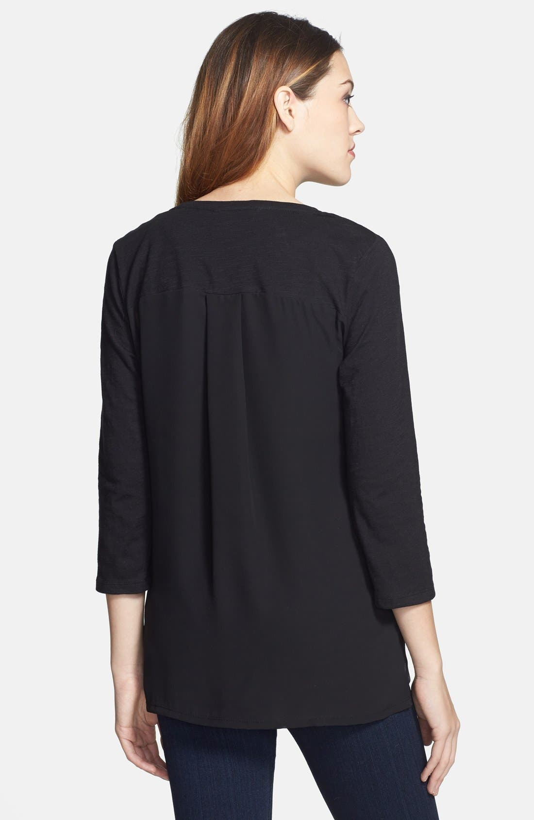 Alternate Image 2  - Two by Vince Camuto Embellished Front Top