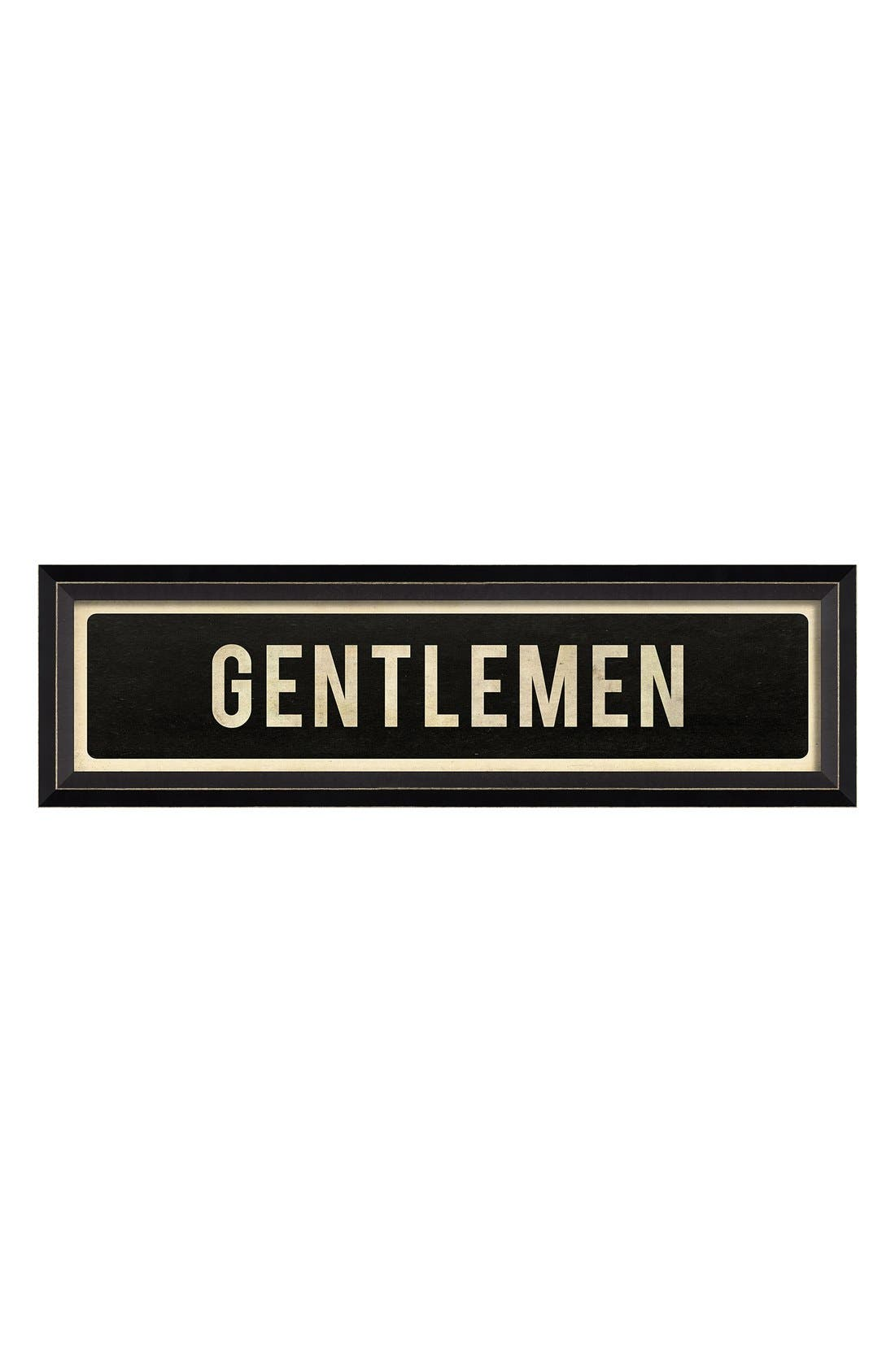 Main Image - Spicher and Company 'Gentlemen' Vintage Look Sign Artwork
