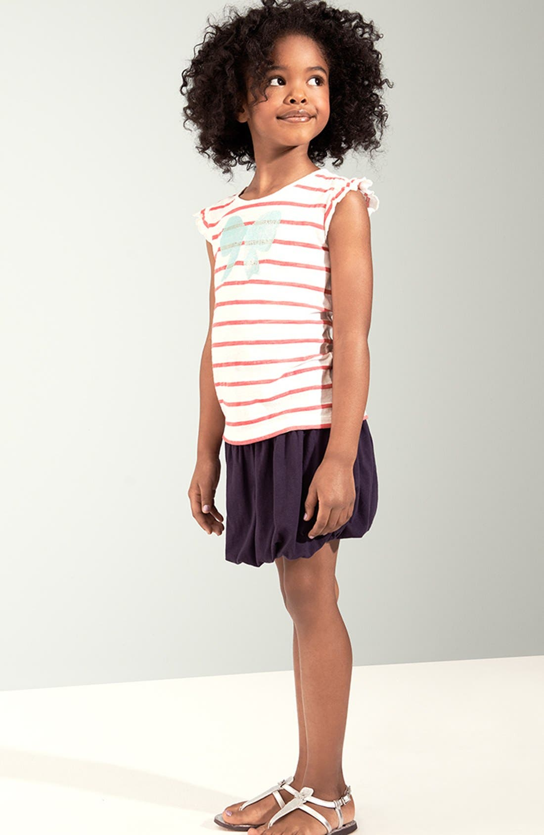 Alternate Image 1 Selected - Tucker + Tate Tee & Bubble Skirt (Little Girls & Big Girls)
