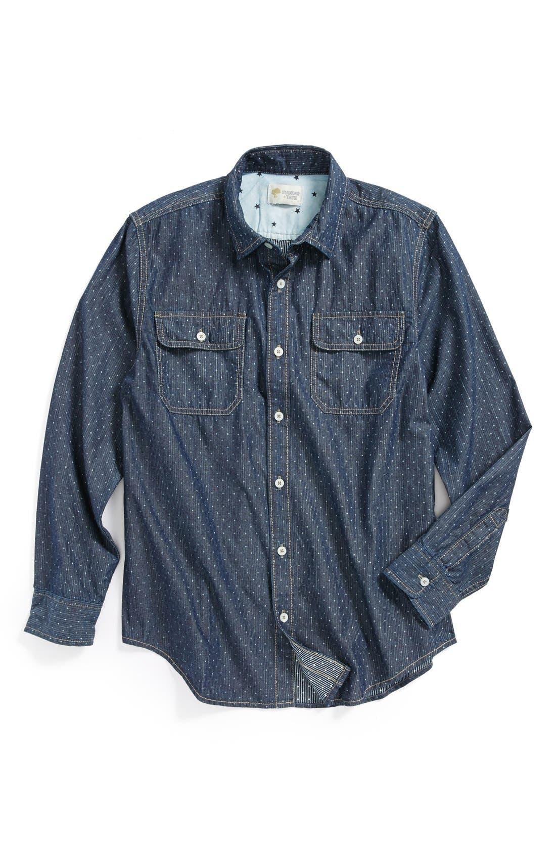 Alternate Image 1 Selected - Tucker + Tate 'Anker' Chambray Sport Shirt (Big Boys)