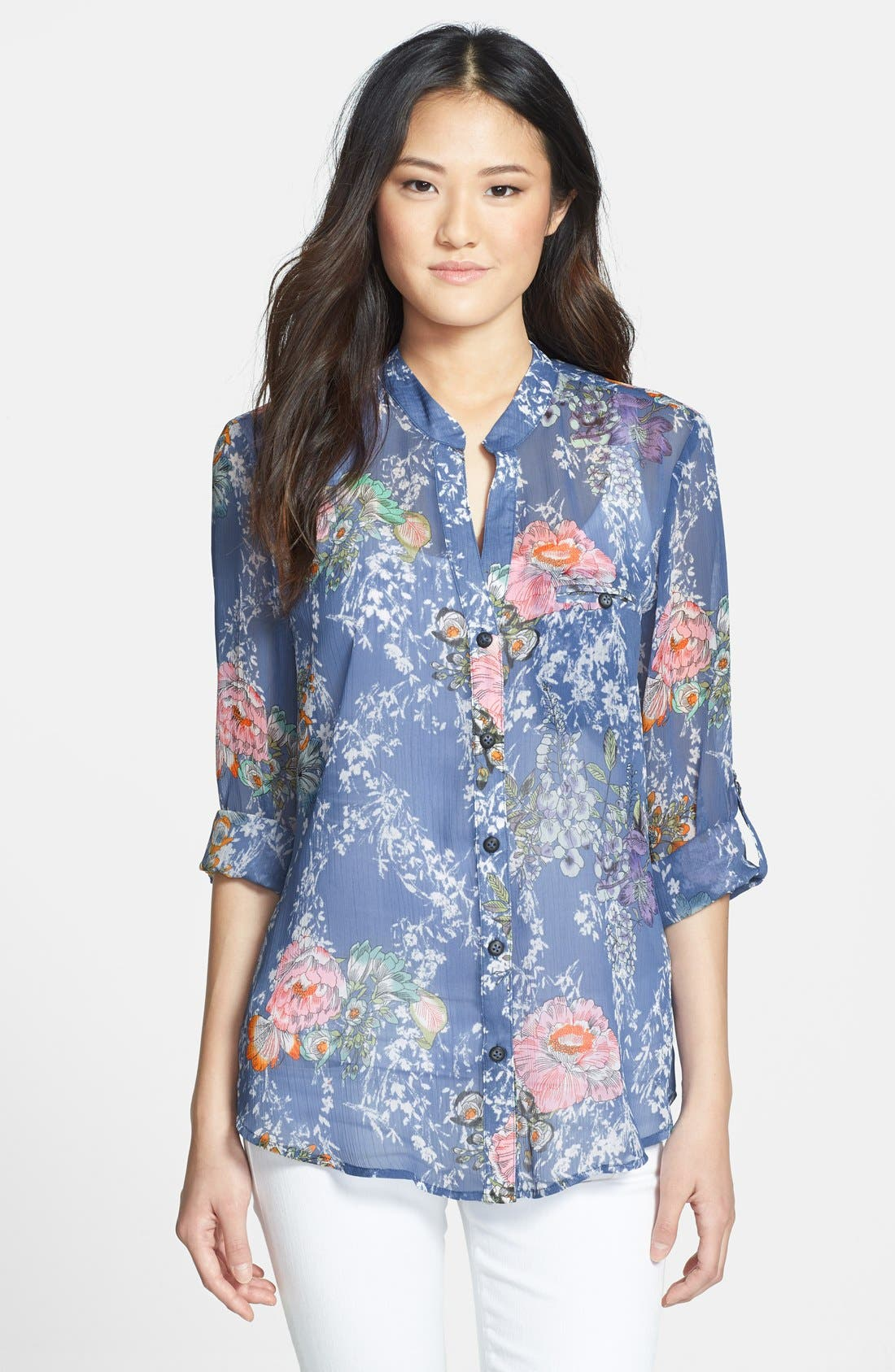 Main Image - KUT from the Kloth 'Jasmine' Roll Sleeve Shirt