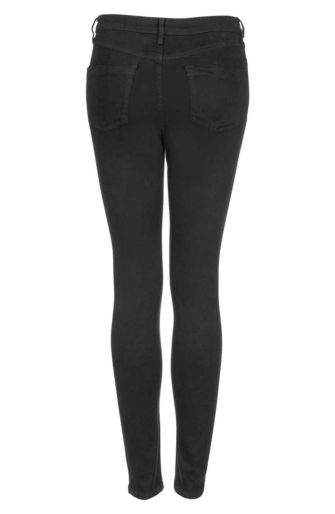 Alternate Image 2  - Topshop Moto 'Jamie' High Rise Skinny Jeans (Petite)