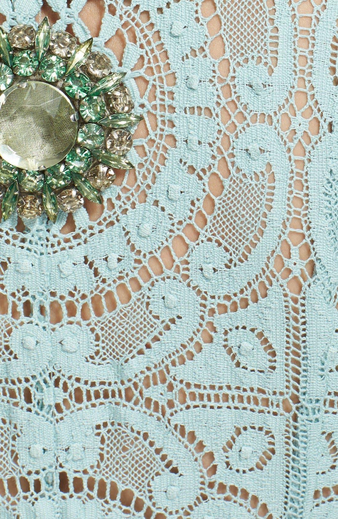 Alternate Image 4  - Burberry Prorsum Embellished English Lace Trench Coat