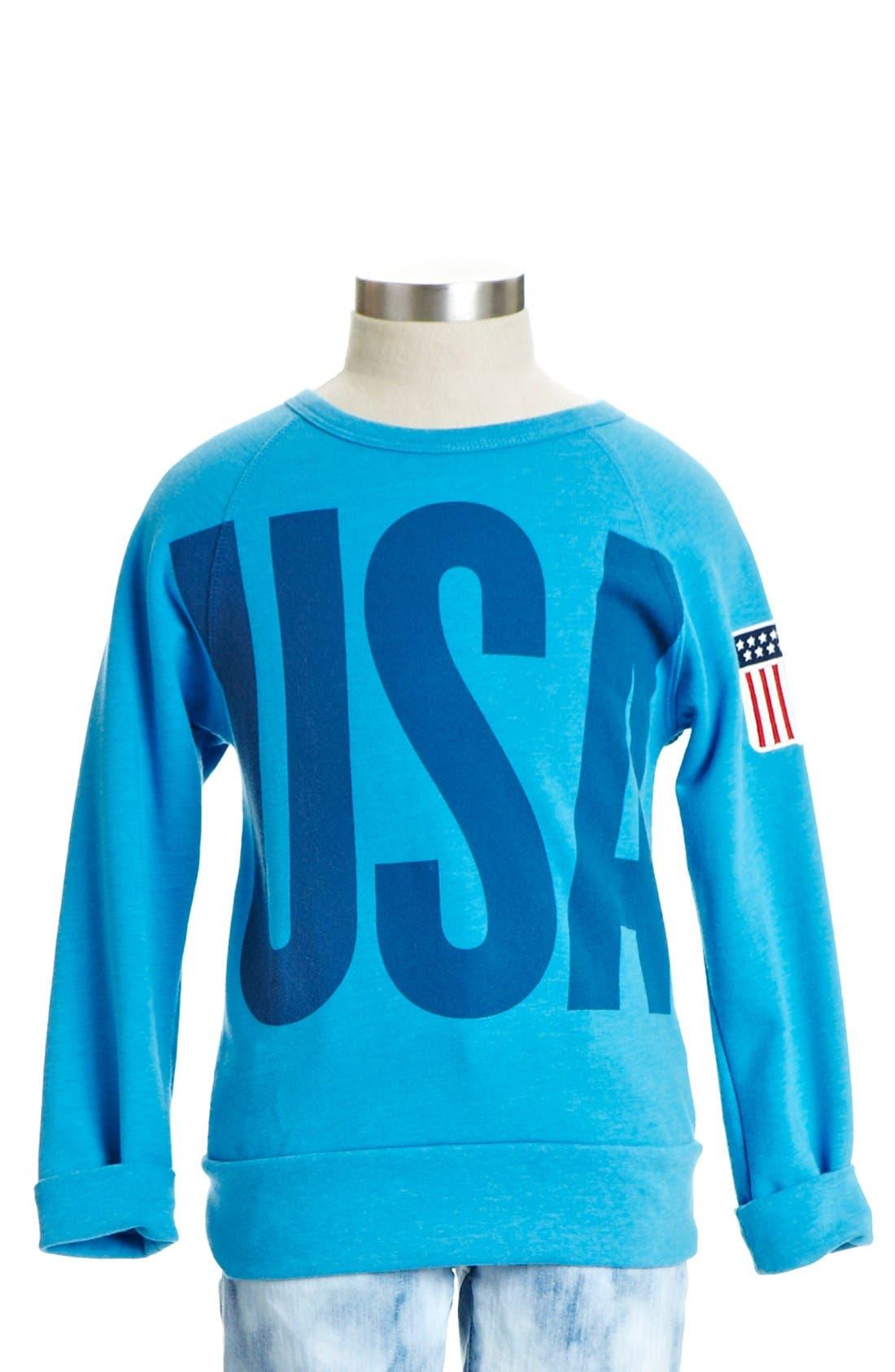 Alternate Image 3  - Peek 'USA' Crewneck Sweatshirt (Toddler Girls, Little Girls & Big Girls)