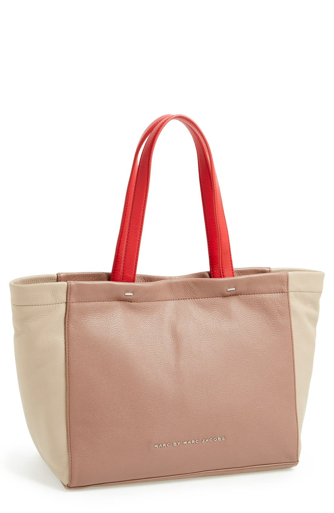 Alternate Image 1 Selected - MARC BY MARC JACOBS 'What's the T' Leather Tote