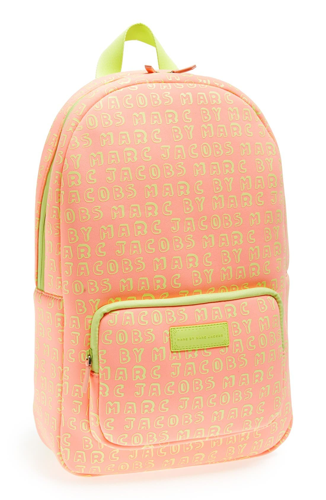 Alternate Image 1 Selected - MARC BY MARC JACOBS Logo Print Laptop Backpack (13 Inch)