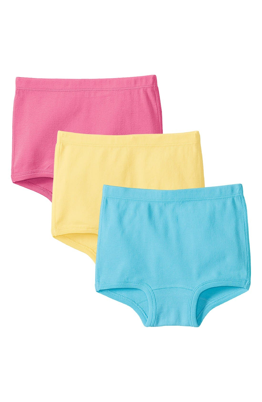 Alternate Image 1 Selected - Hanna Andersson Organic Cotton Brief Underwear (3-Pack) (Little Girls & Big Girls)