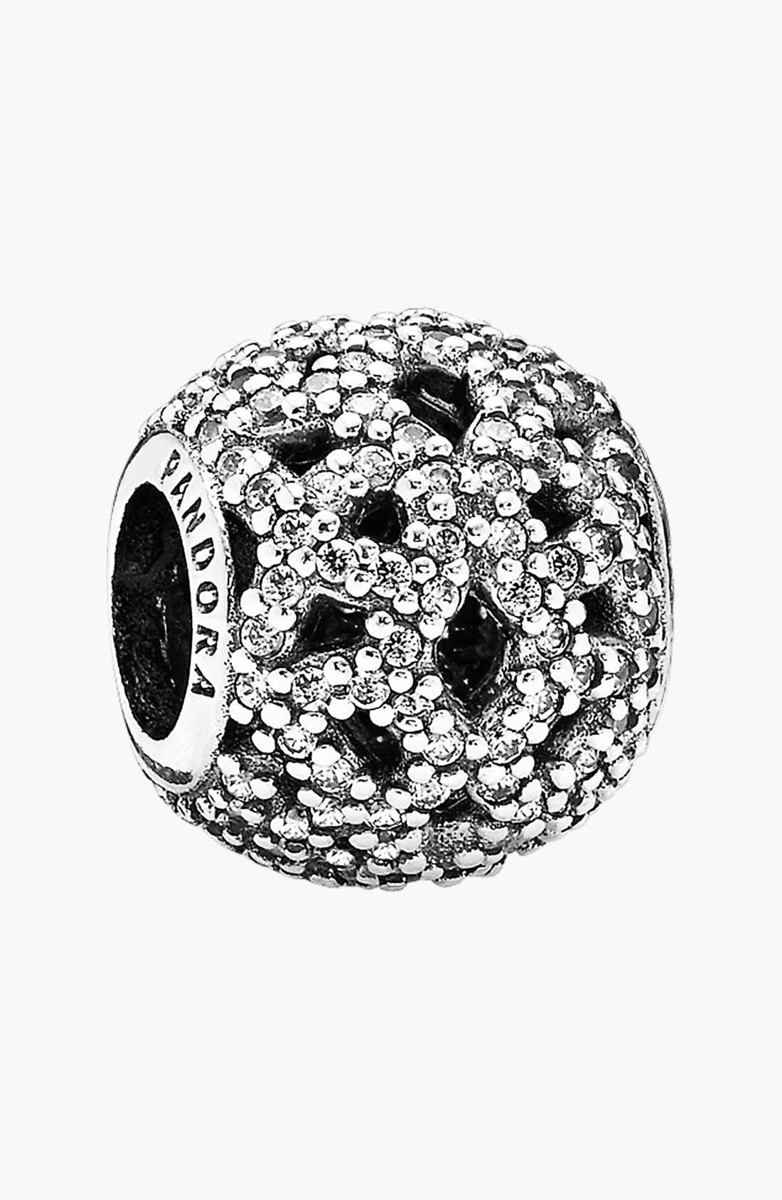 Alternate Image 1 Selected - PANDORA 'Shimmering Lace' Open Bead Charm