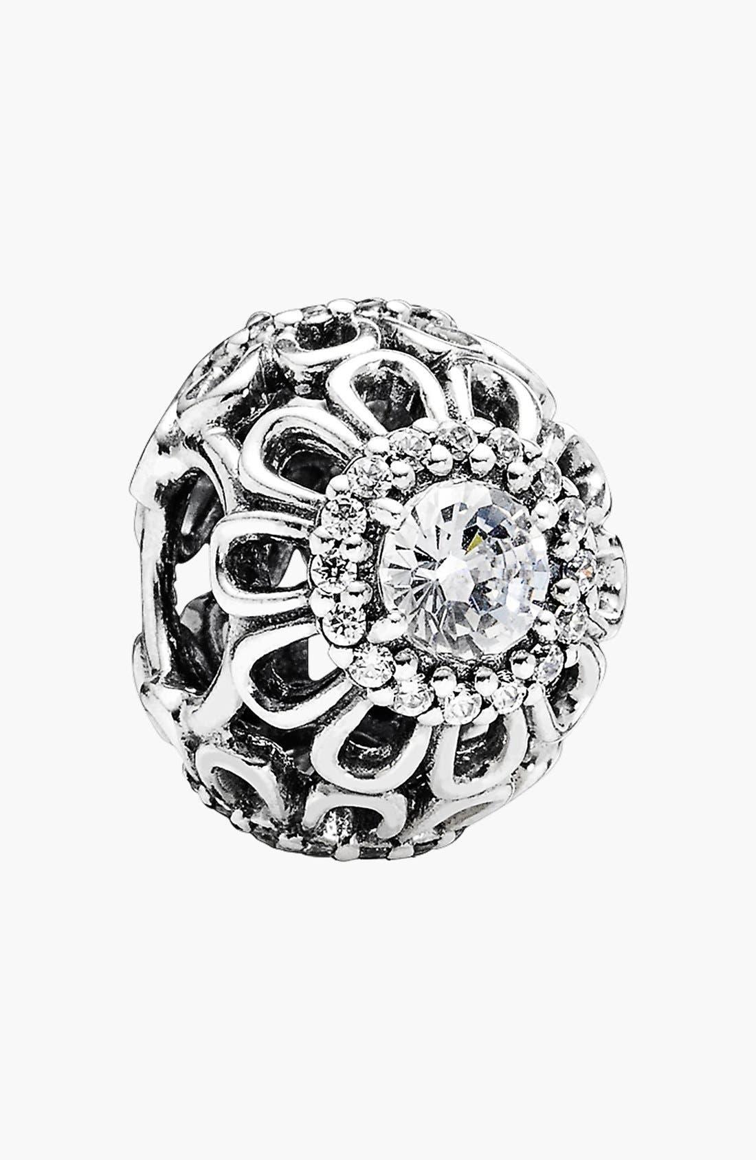 Alternate Image 1 Selected - PANDORA 'Floral Brilliance' Bead Charm