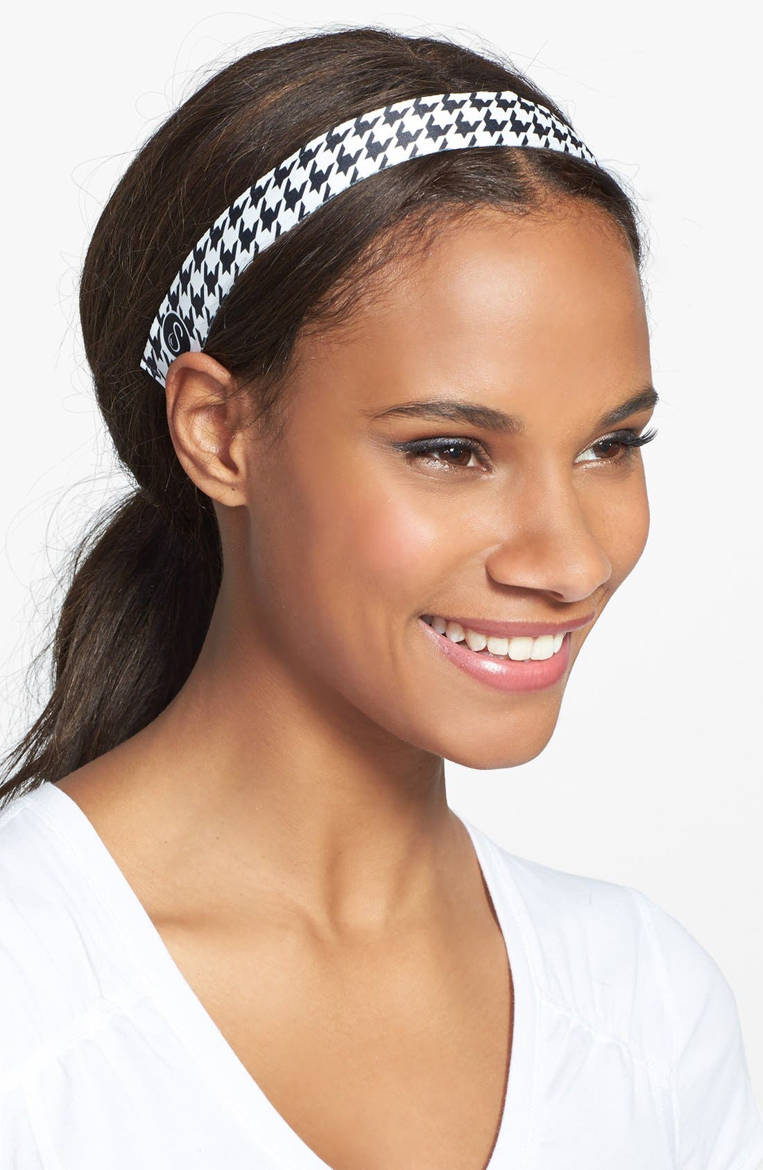 Alternate Image 1 Selected - Sweaty Bands 'Houndstooth' Head Wrap