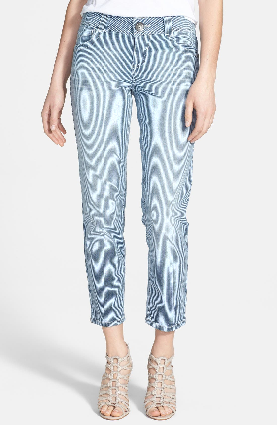 Main Image - Wit & Wisdom Stretch Ankle Skinny Jeans (Railroad) (Nordstrom Exclusive)