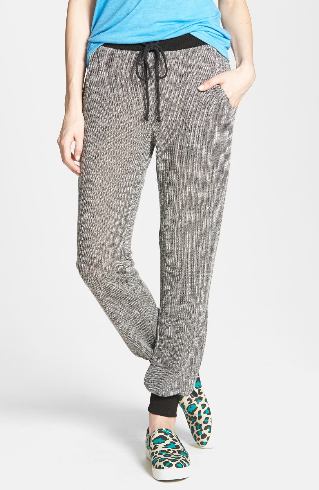 Main Image - Soprano Knit Drawstring Track Pants (Juniors)