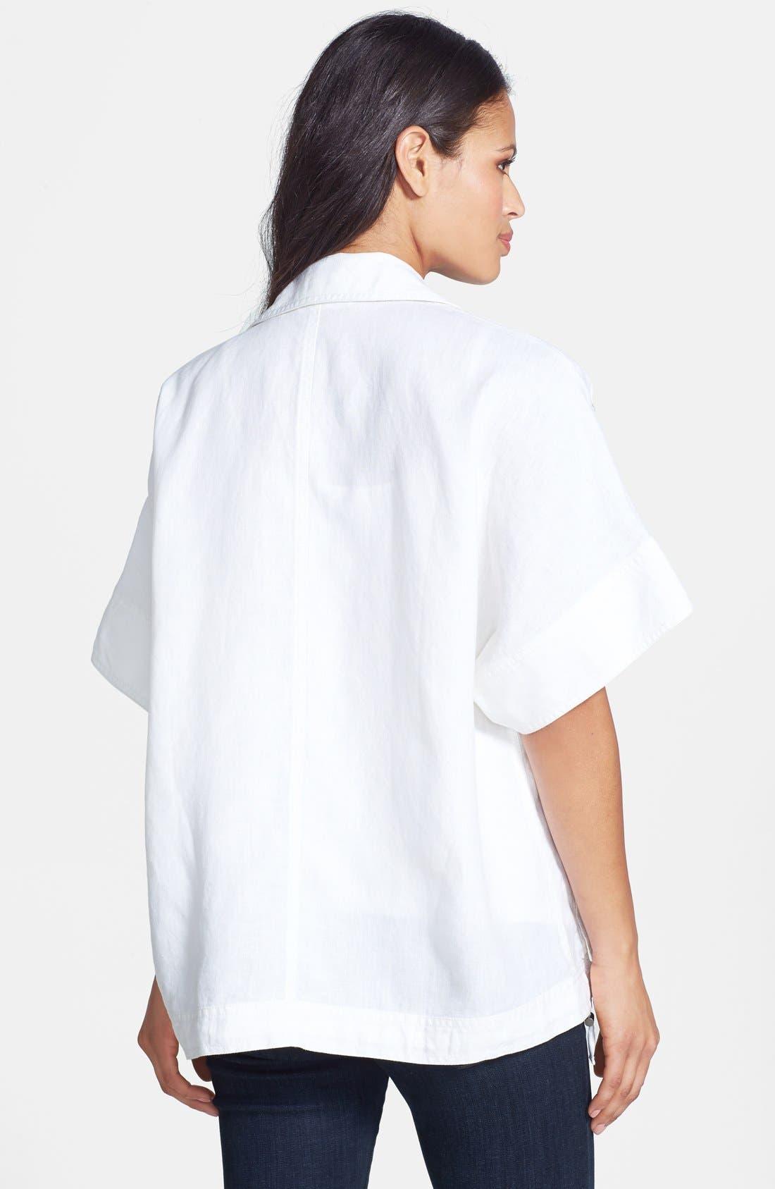 Alternate Image 2  - Eileen Fisher Classic Collar Short Sleeve Jacket (Regular & Petite)