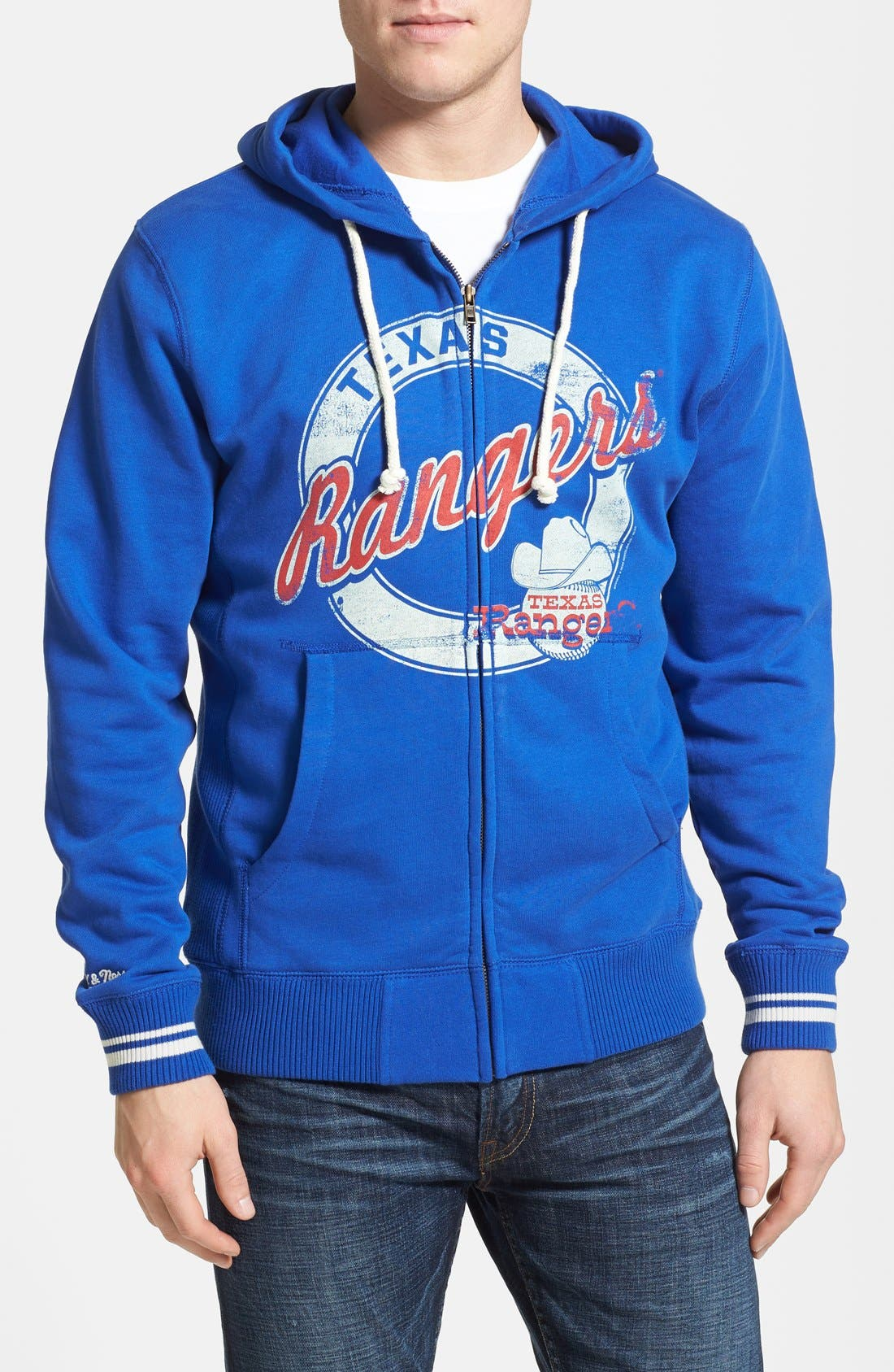 Alternate Image 1 Selected - Mitchell & Ness 'Texas Rangers' Full Zip Hoodie