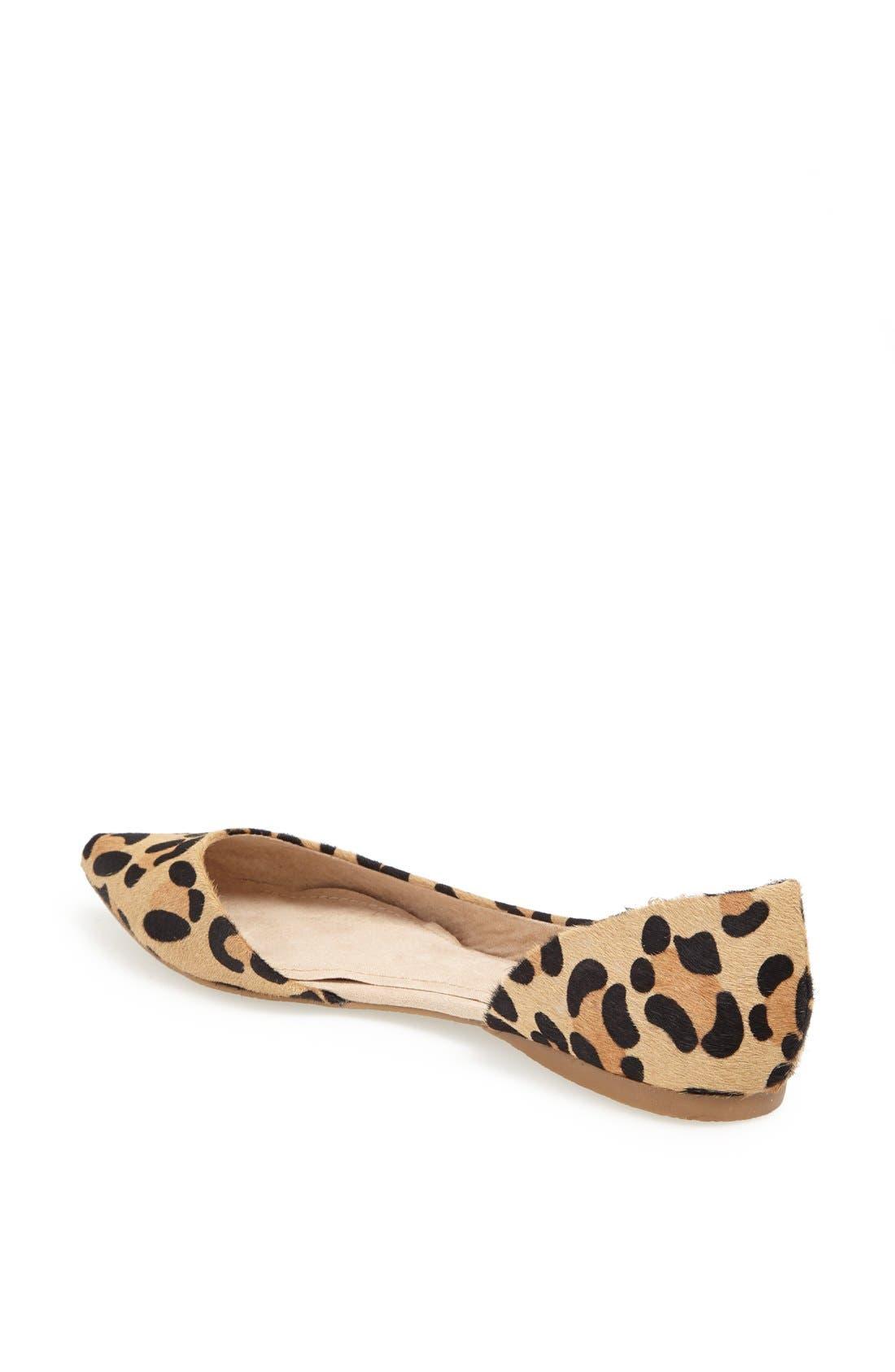 Alternate Image 2  - Steve Madden 'Elusion' Leopard Print Calf Hair Half d'Orsay Flat