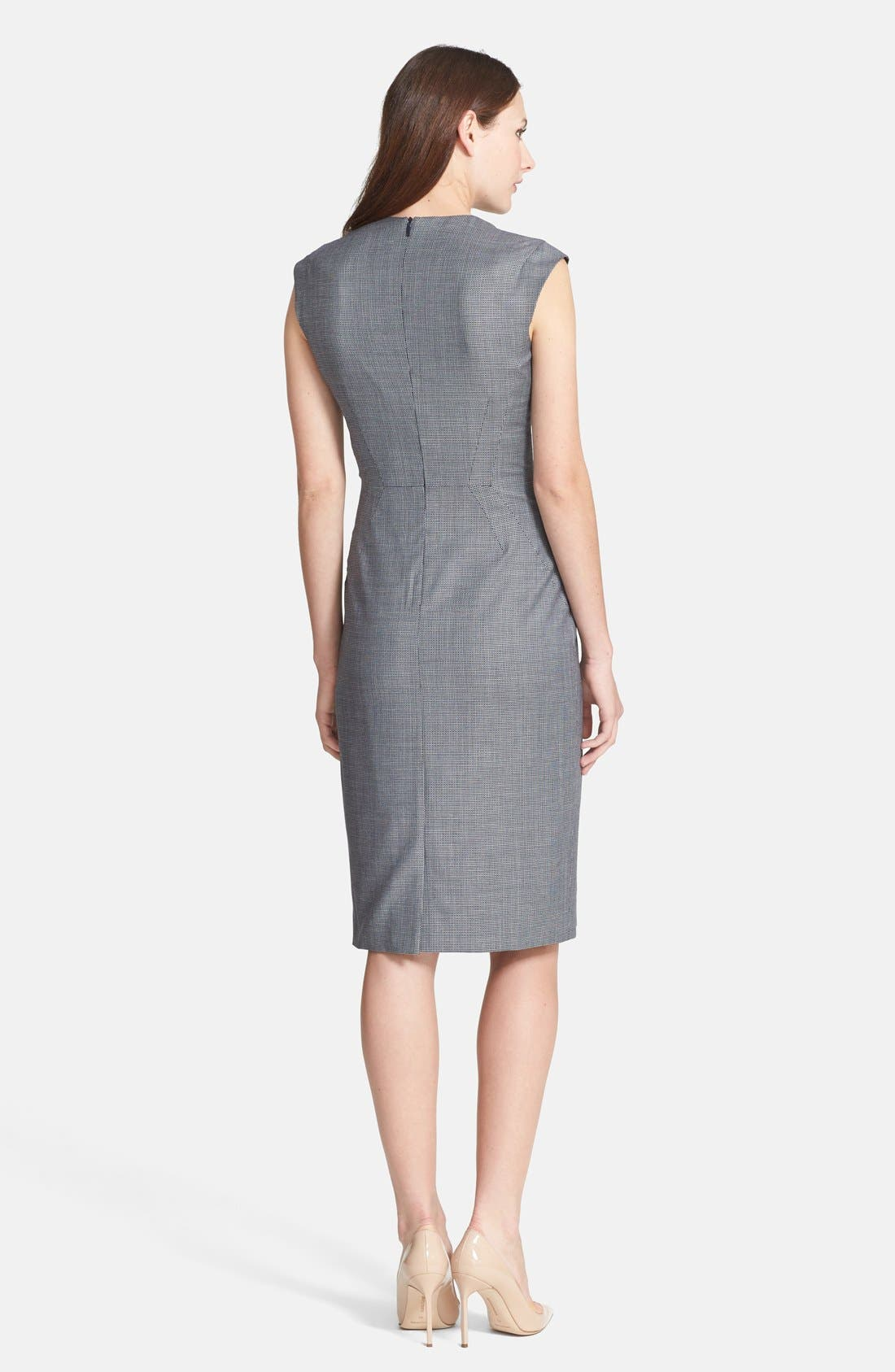 Alternate Image 2  - BOSS 'Dalana' V-Neck Sheath Dress