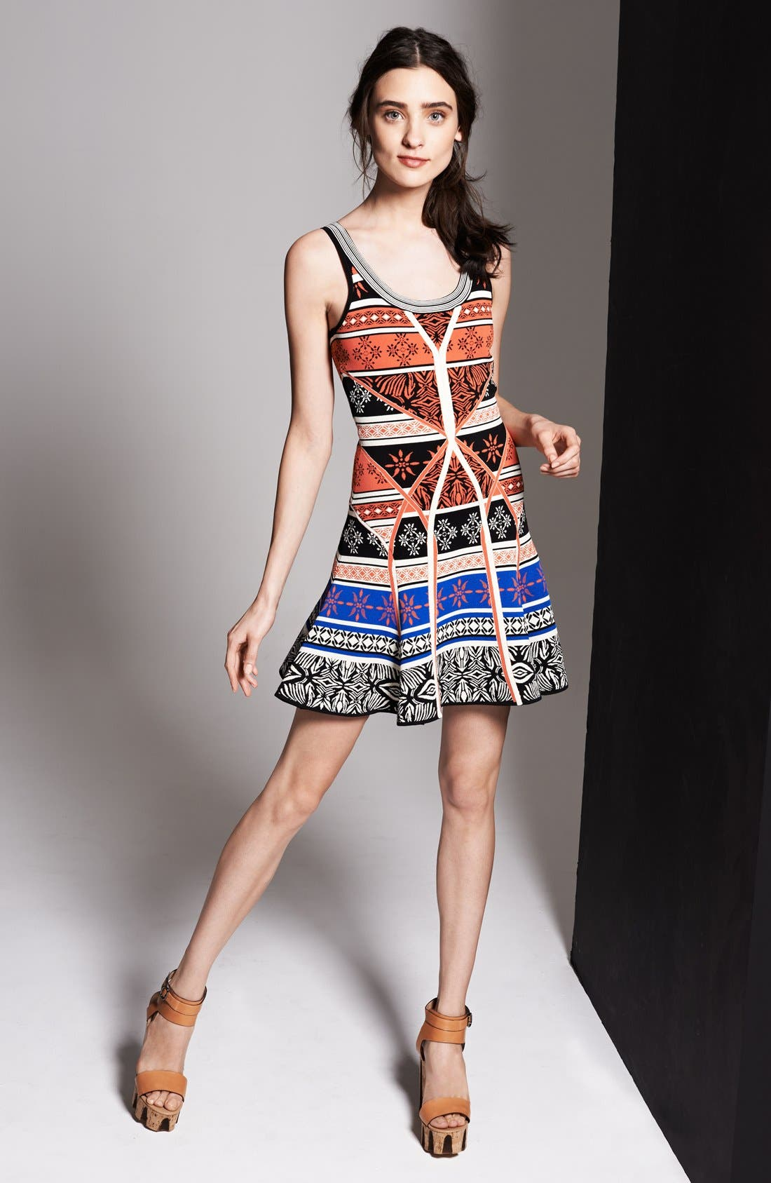 Alternate Image 6  - Diane von Furstenberg 'Ilsa' Print Knit Tank Dress