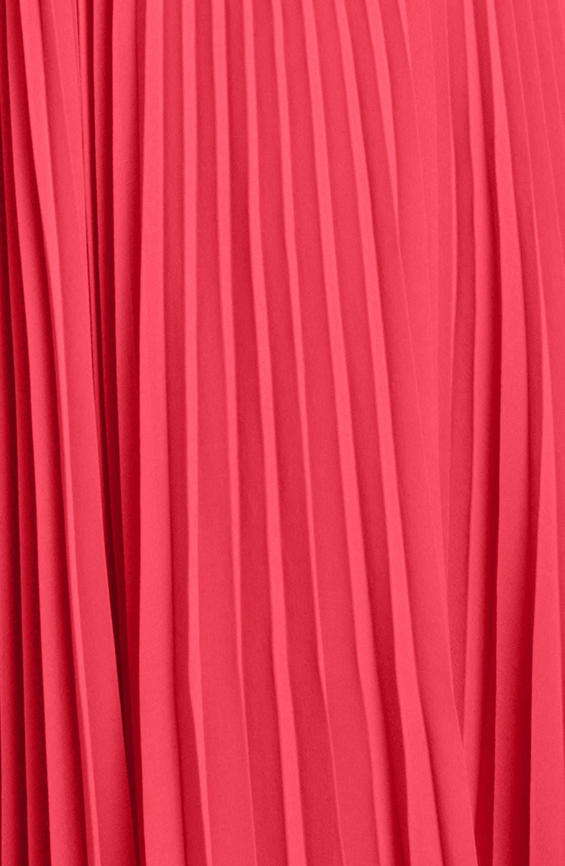 Alternate Image 3  - Eliza J Pleated Chiffon Maxi Dress (Regular & Petite)