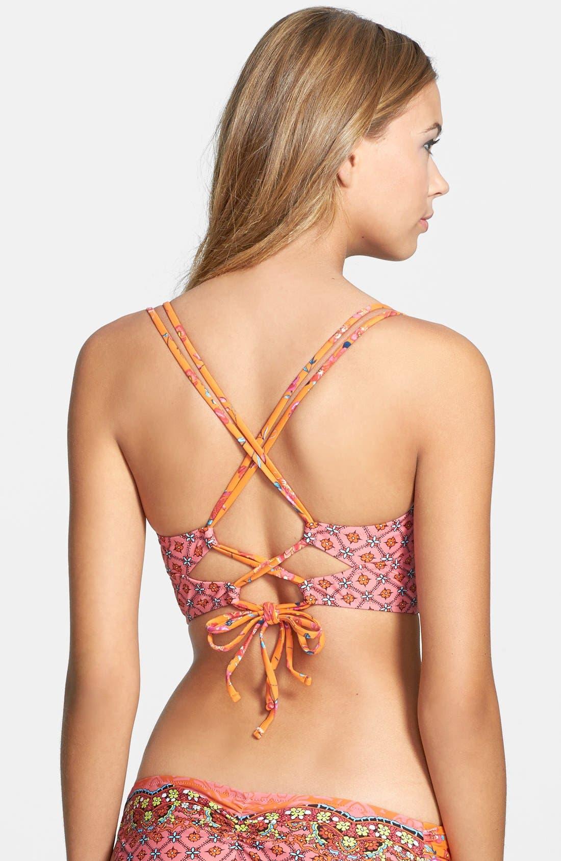 Alternate Image 2  - Blush by Profile 'Anastasia' Underwire Bustier Bikini Top