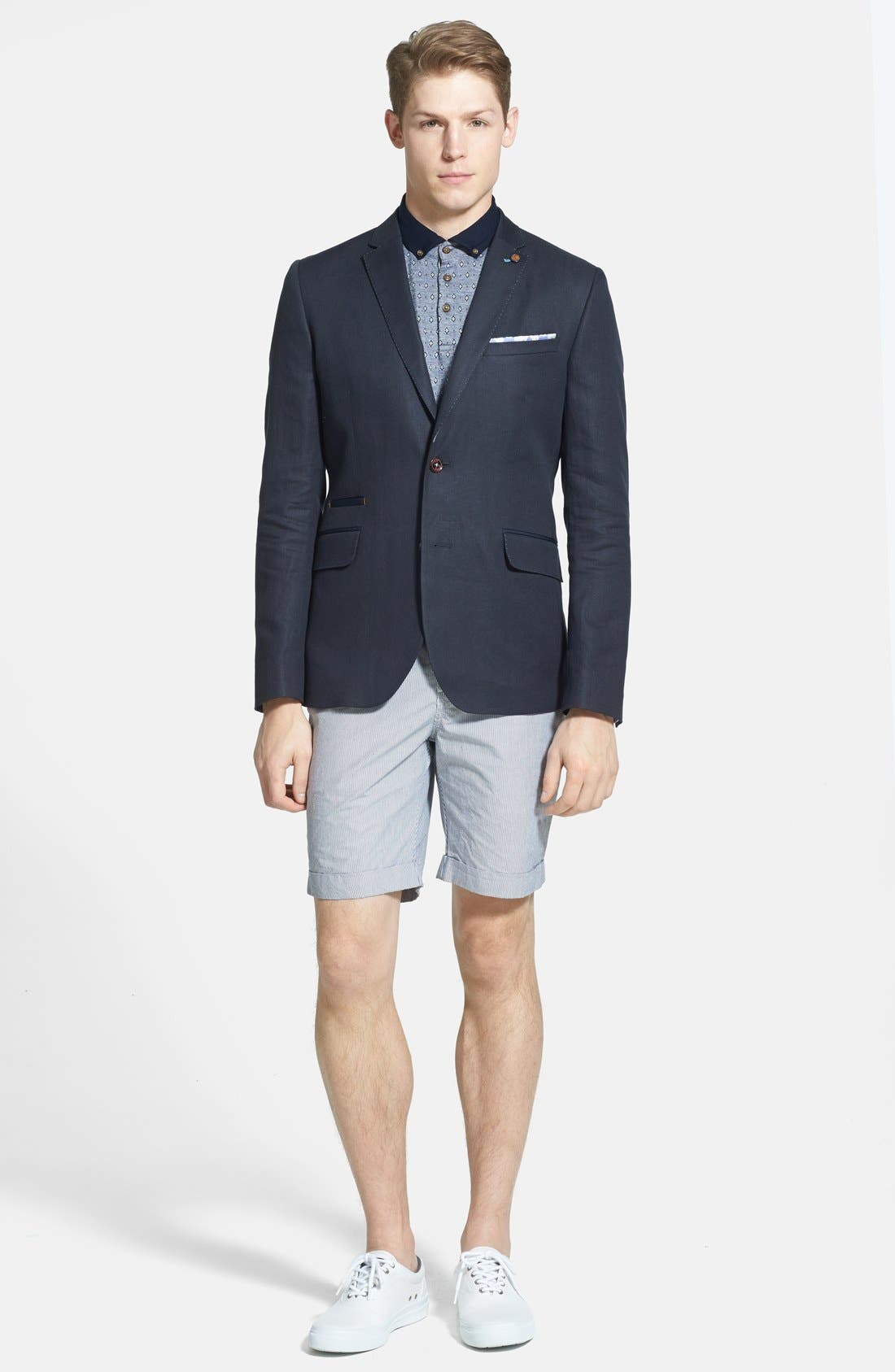 Alternate Image 4  - Ted Baker London 'Staddle' Slim Fit Stripe Shorts