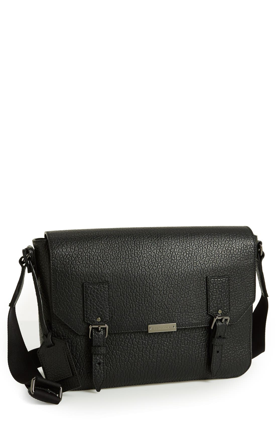Alternate Image 1 Selected - Burberry 'Small Grifford' Leather Messenger Bag