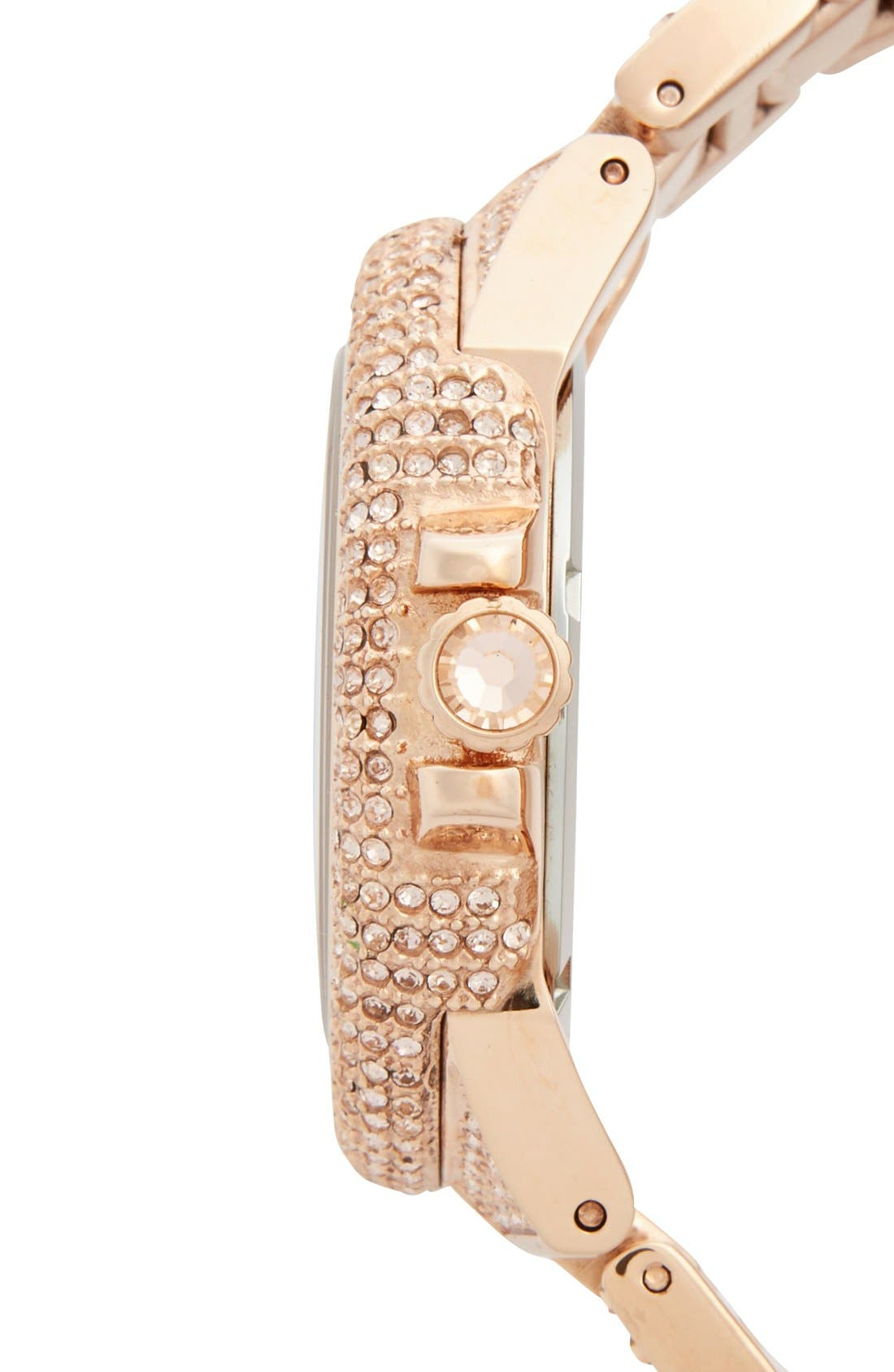 Alternate Image 3  - Michael Kors 'Camille' Crystal Encrusted Bracelet Watch, 44mm