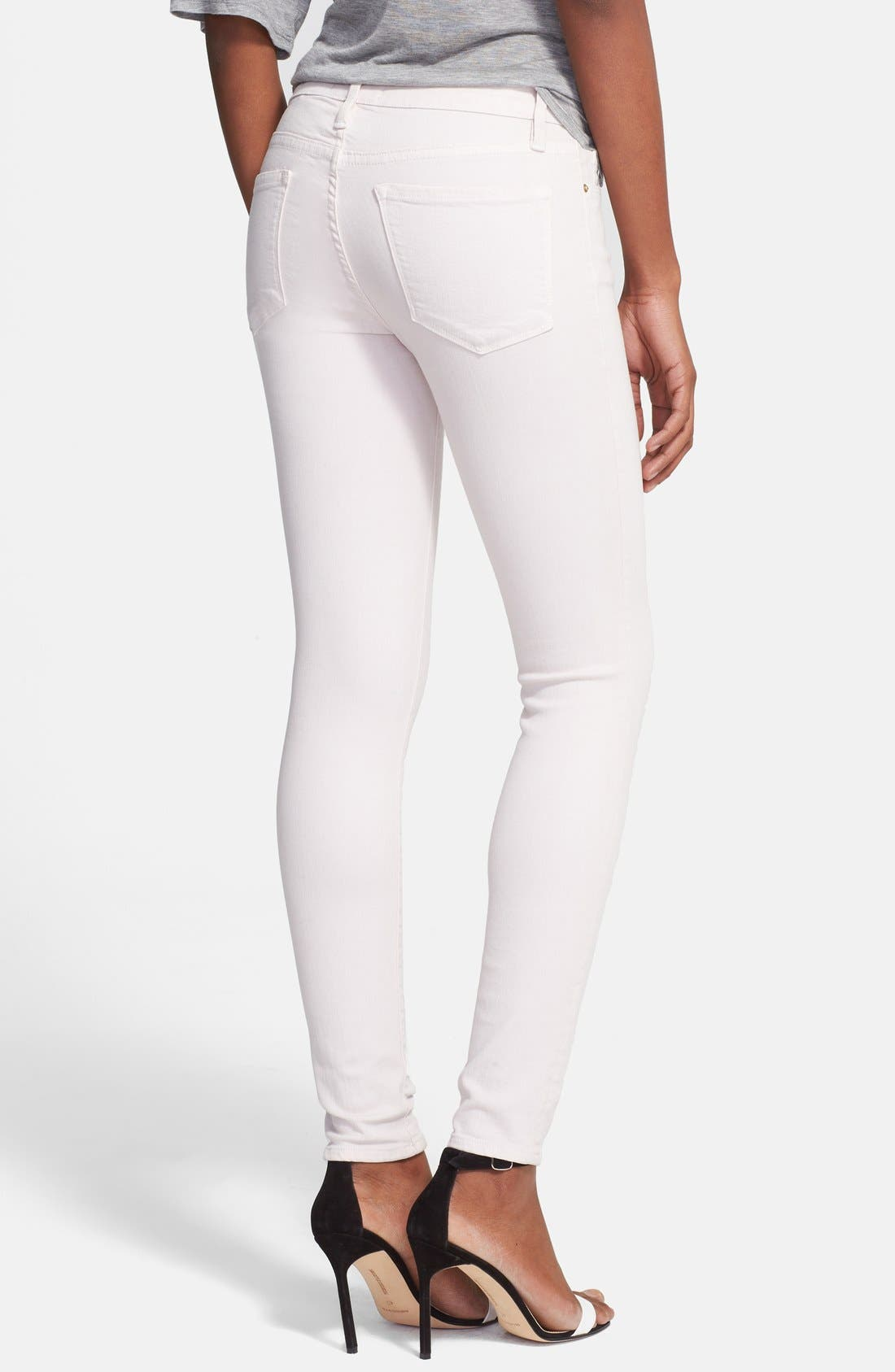 Alternate Image 2  - FRAME 'Le Color' Skinny Jeans (Blush Pink)