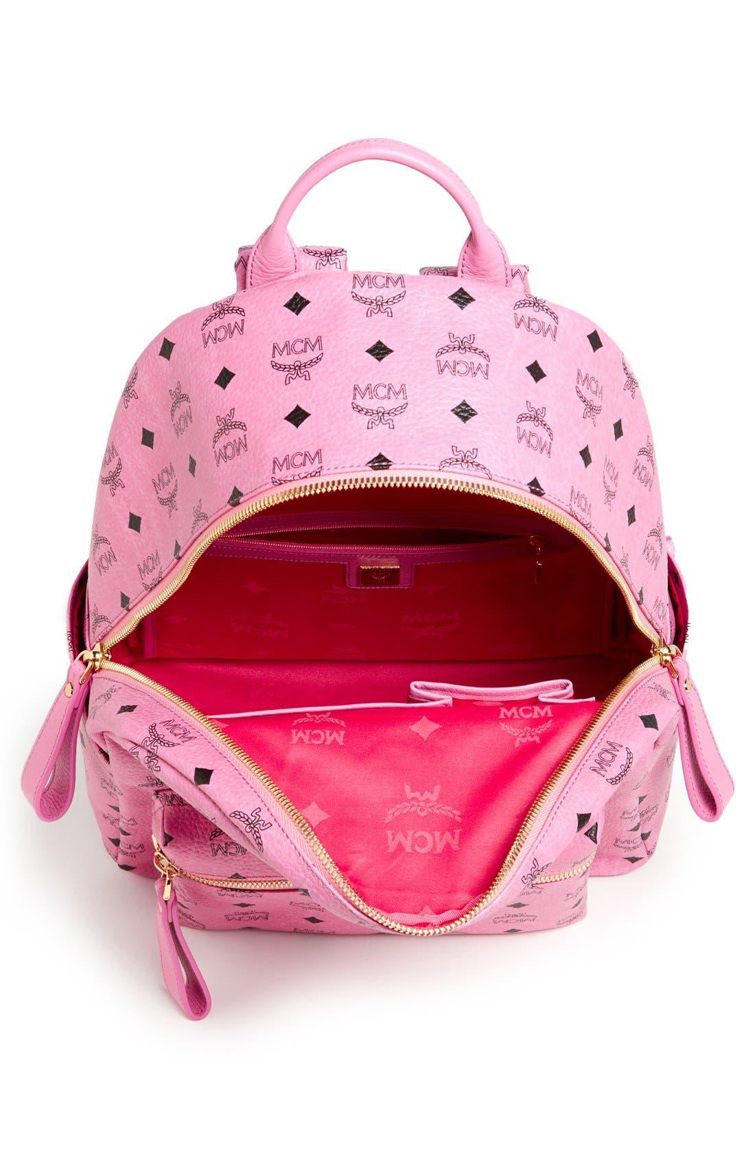 Alternate Image 3  - MCM 'Medium Stark - Visetos' Studded Coated Canvas Backpack